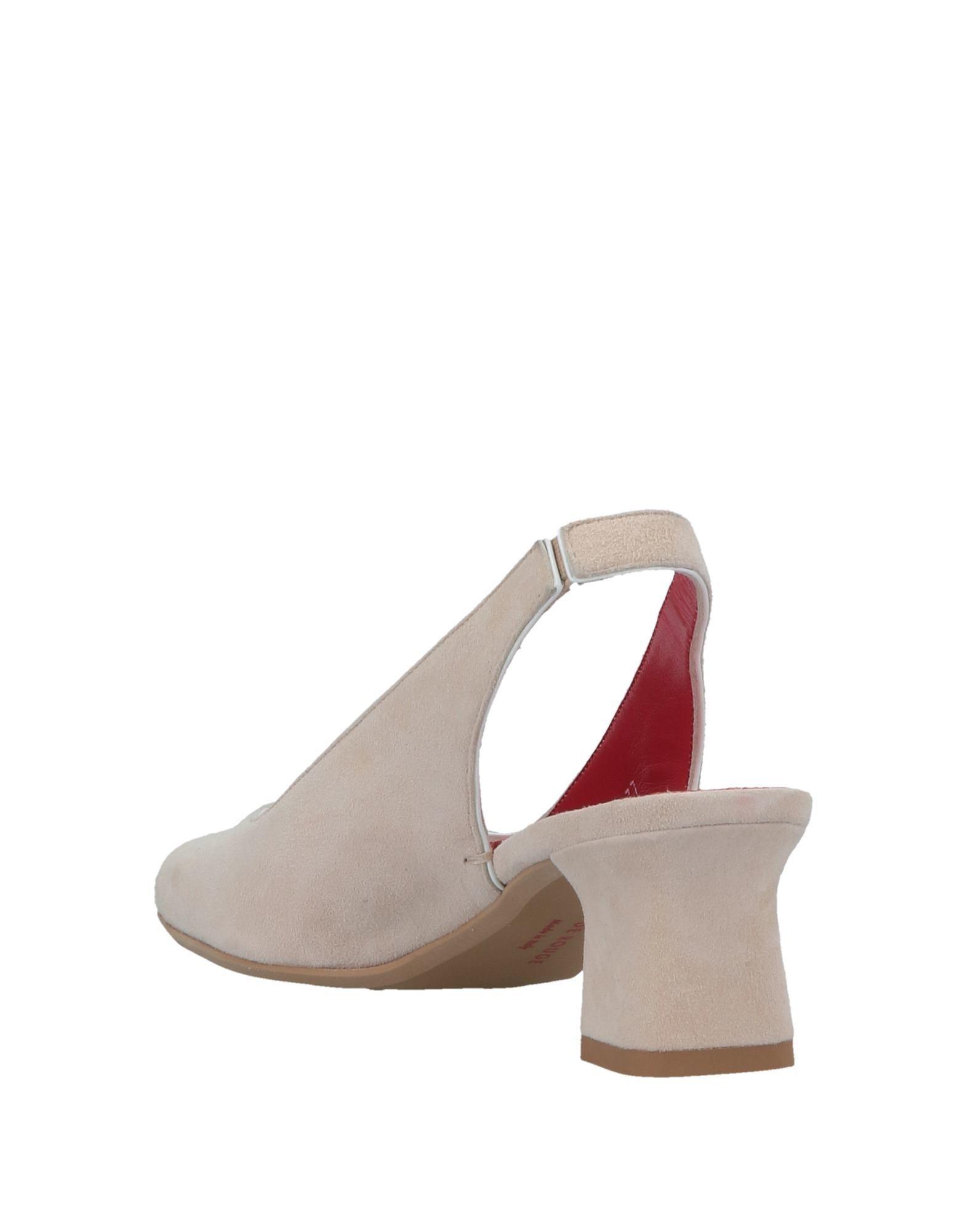 Zapatos de salón Pas De Rouge de Ante de color Neutro