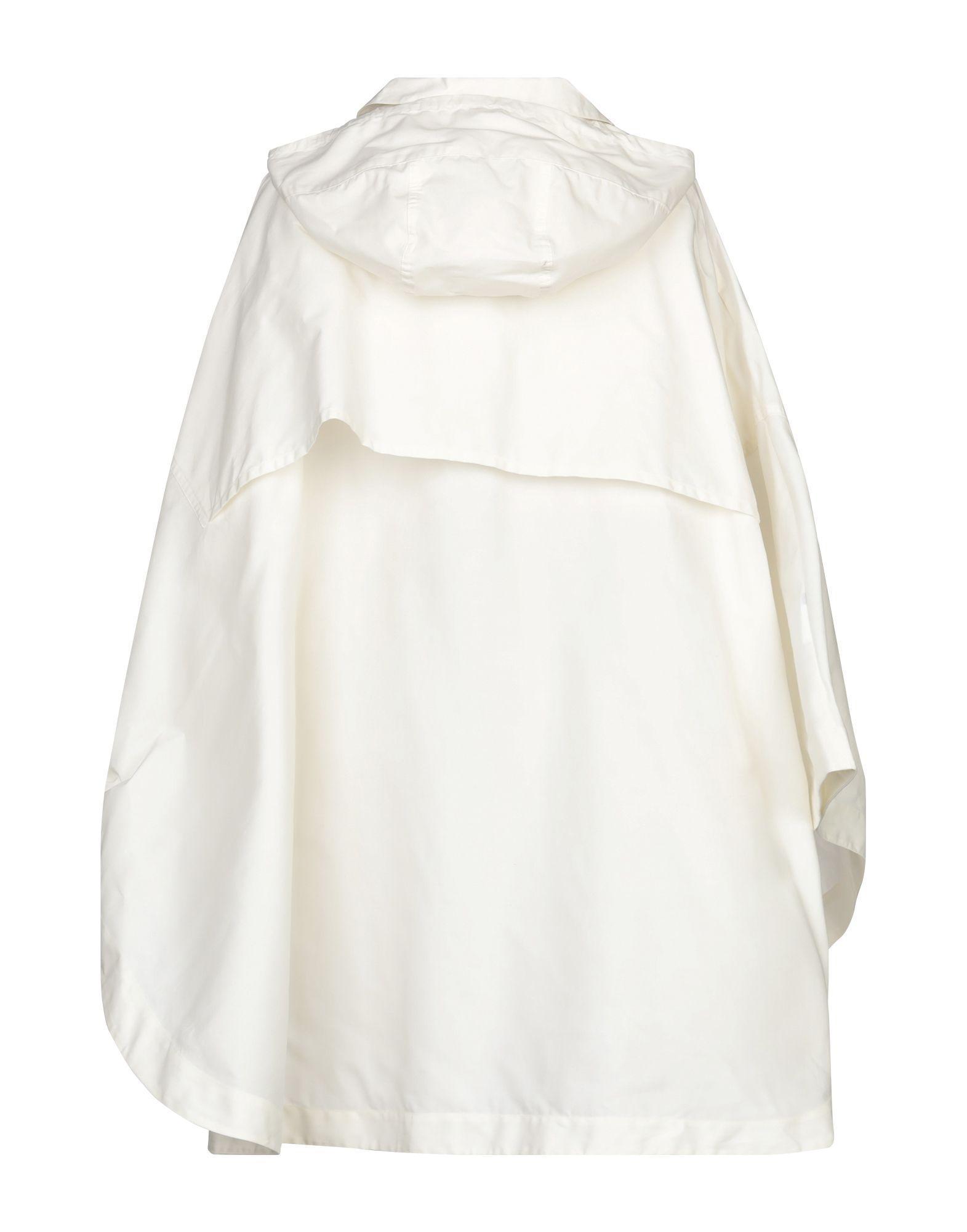 Poncho Jil Sander Navy de Algodón de color Blanco