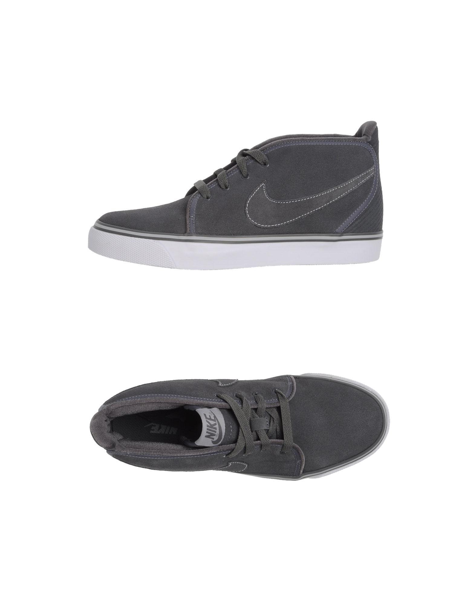 lyst nike hightop sneakers in gray for men
