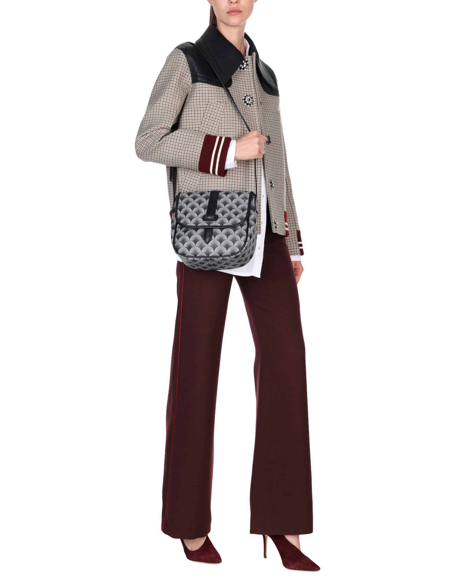 289 by SARA GIUNTI Leather Cross-body Bag in Lead (Grey)