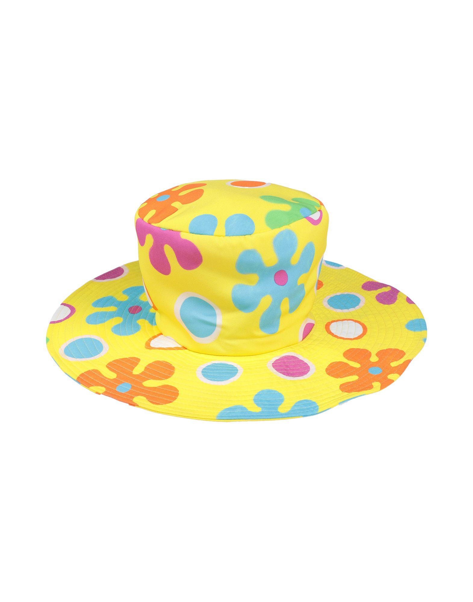 Moschino Hat in Yellow - Lyst 7149ec37a17