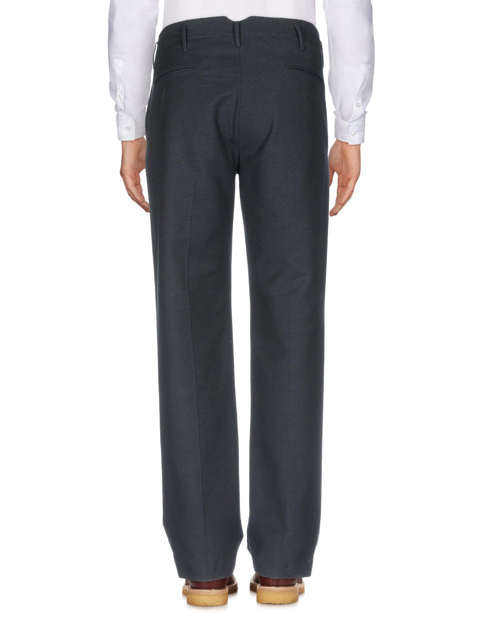Incotex Silk Casual Trouser in Dark Blue (Blue) for Men