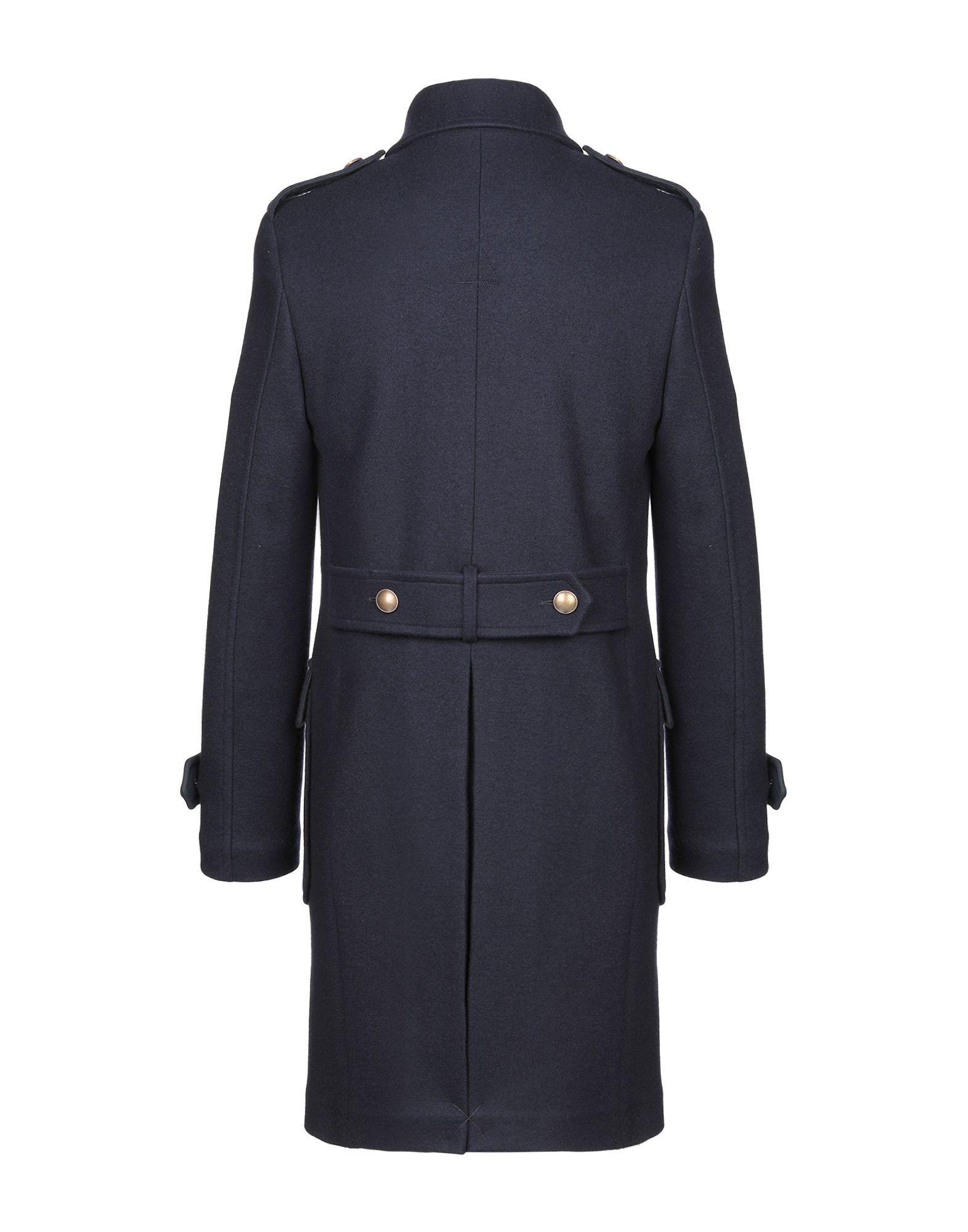 Manteau long Eleventy pour homme en coloris Bleu iIK4d