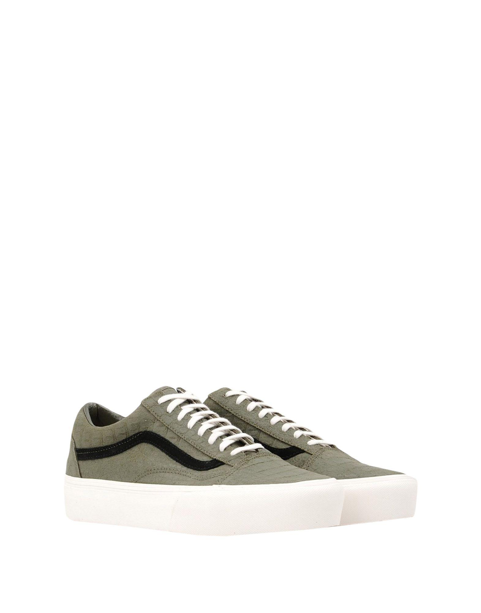 Vans Leather Low-tops & Sneakers in Military Green (Green)