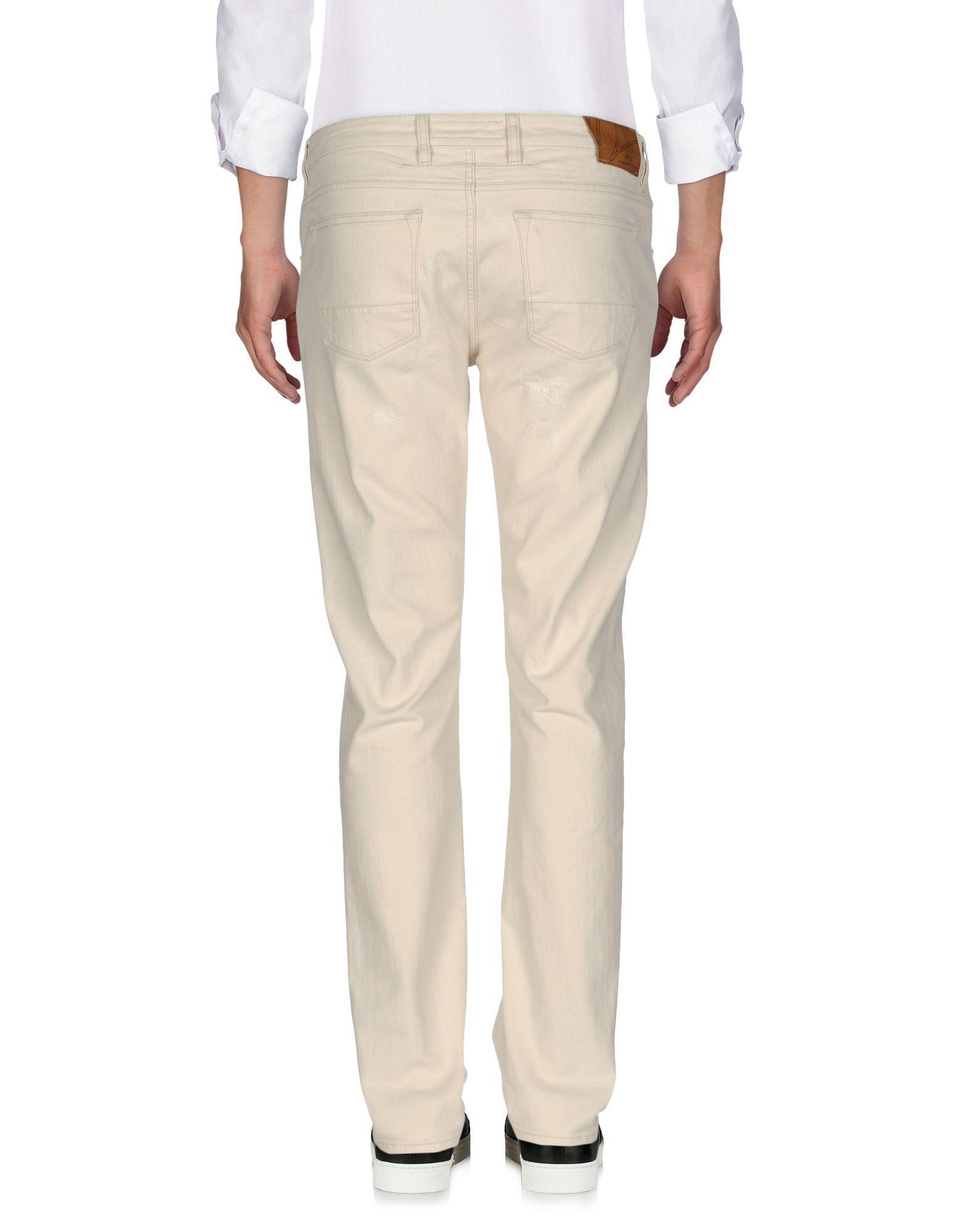 PT Torino Denim Trousers in Ivory (White) for Men