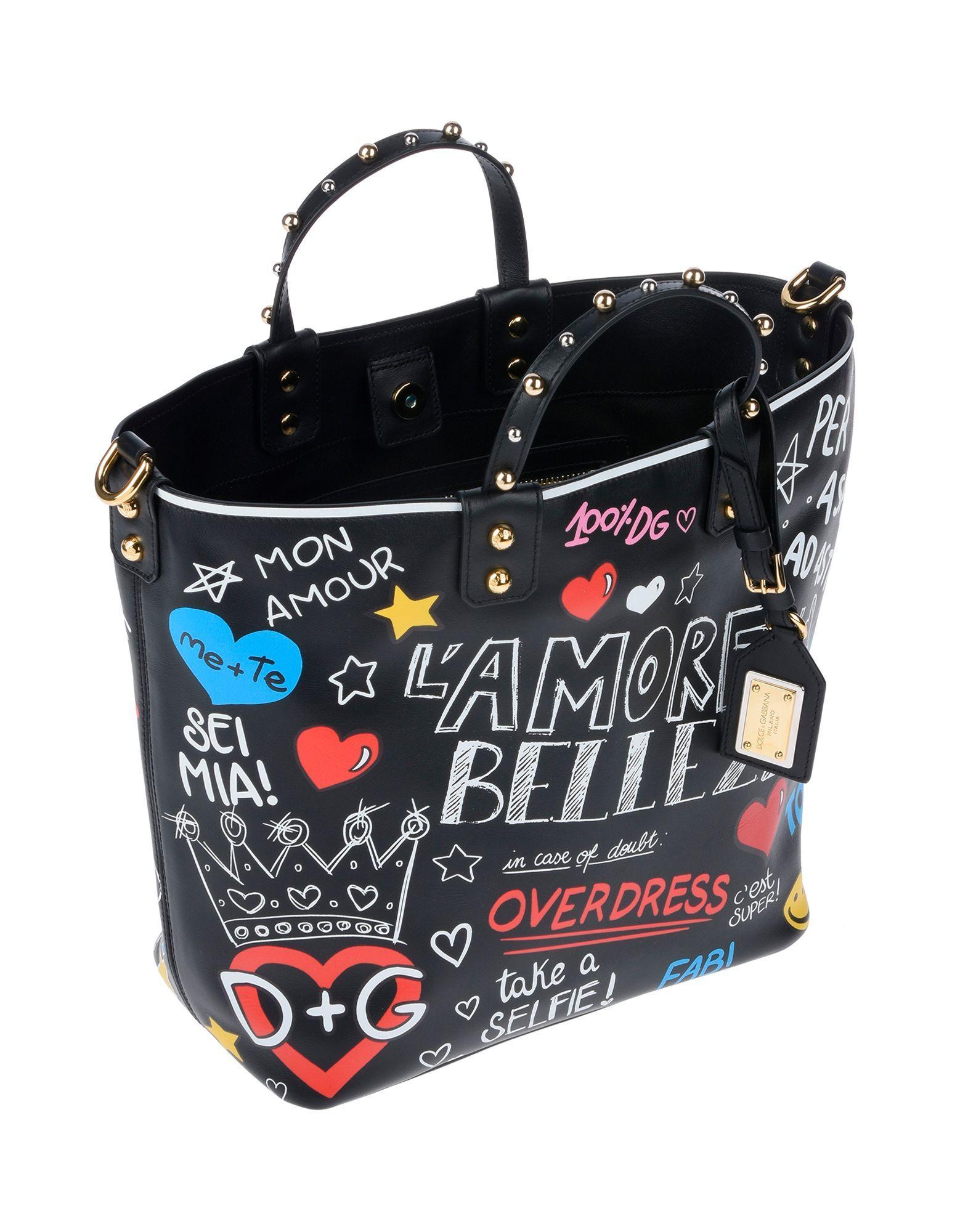 a85e8d0962d0 Dolce   Gabbana Handbag in Black - Save 46% - Lyst
