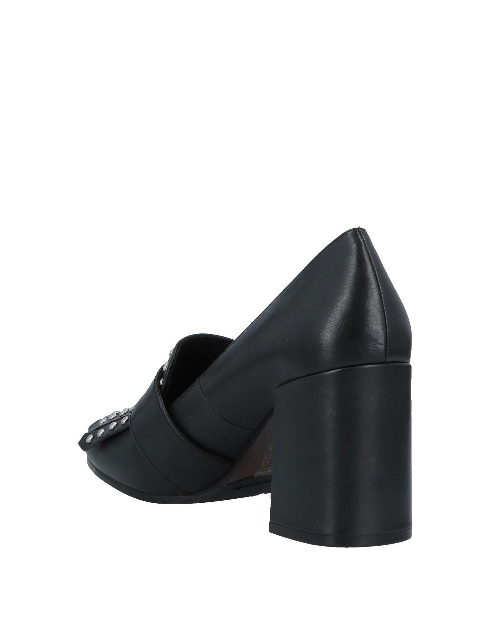 Mocasines Elvio Zanon de Cuero de color Negro