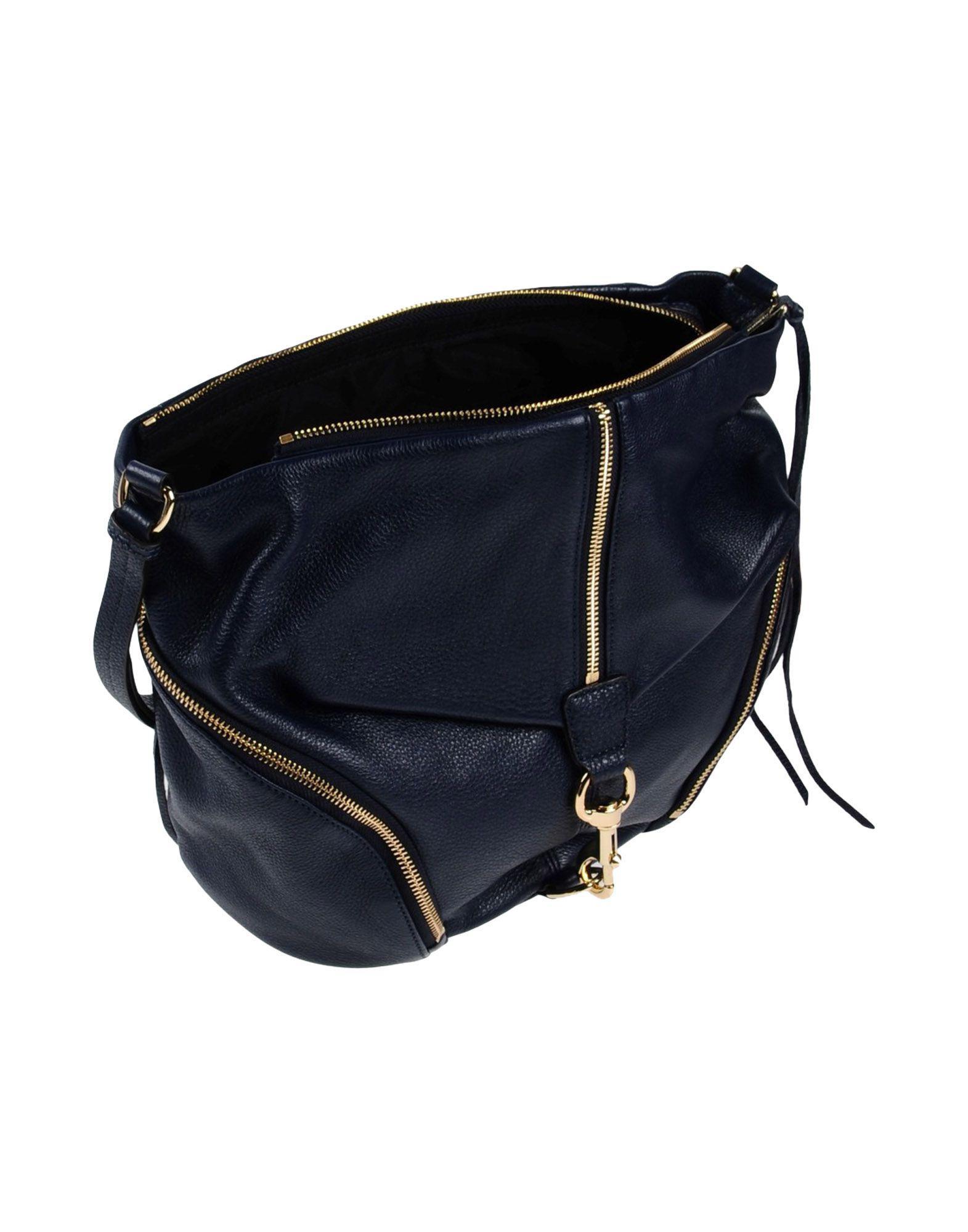 Rebecca Minkoff Leather Cross-body Bag in Dark Blue (Blue)