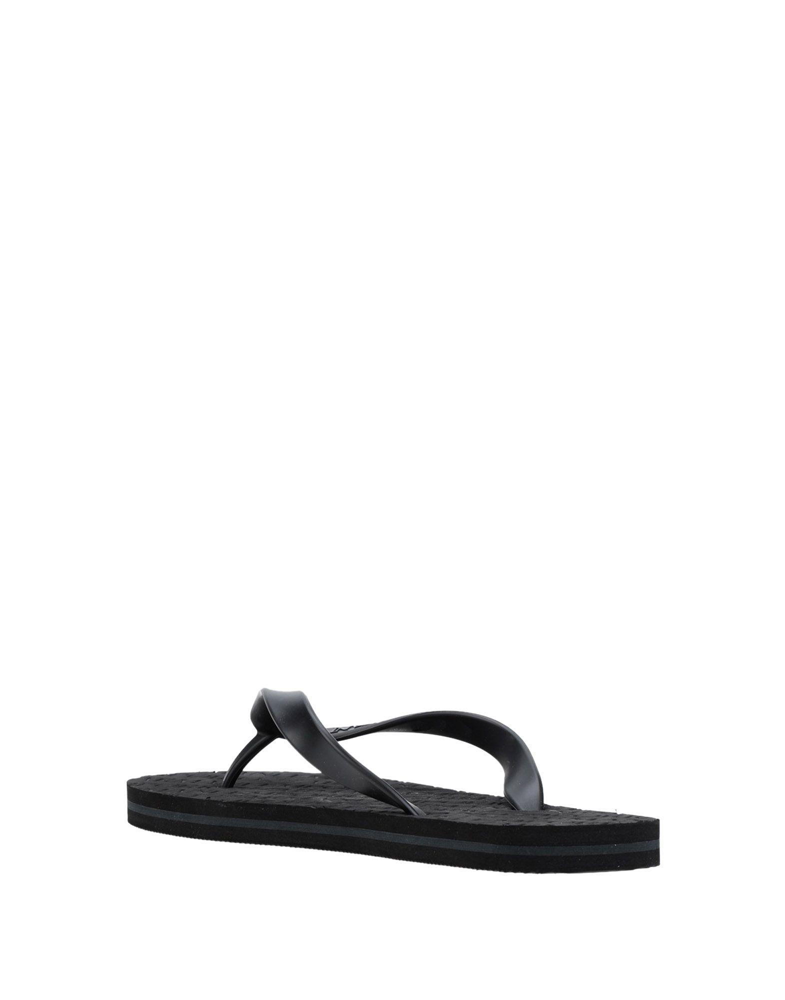 2a5ec8171 Lyst - Emporio Armani Toe Post Sandal in Black for Men