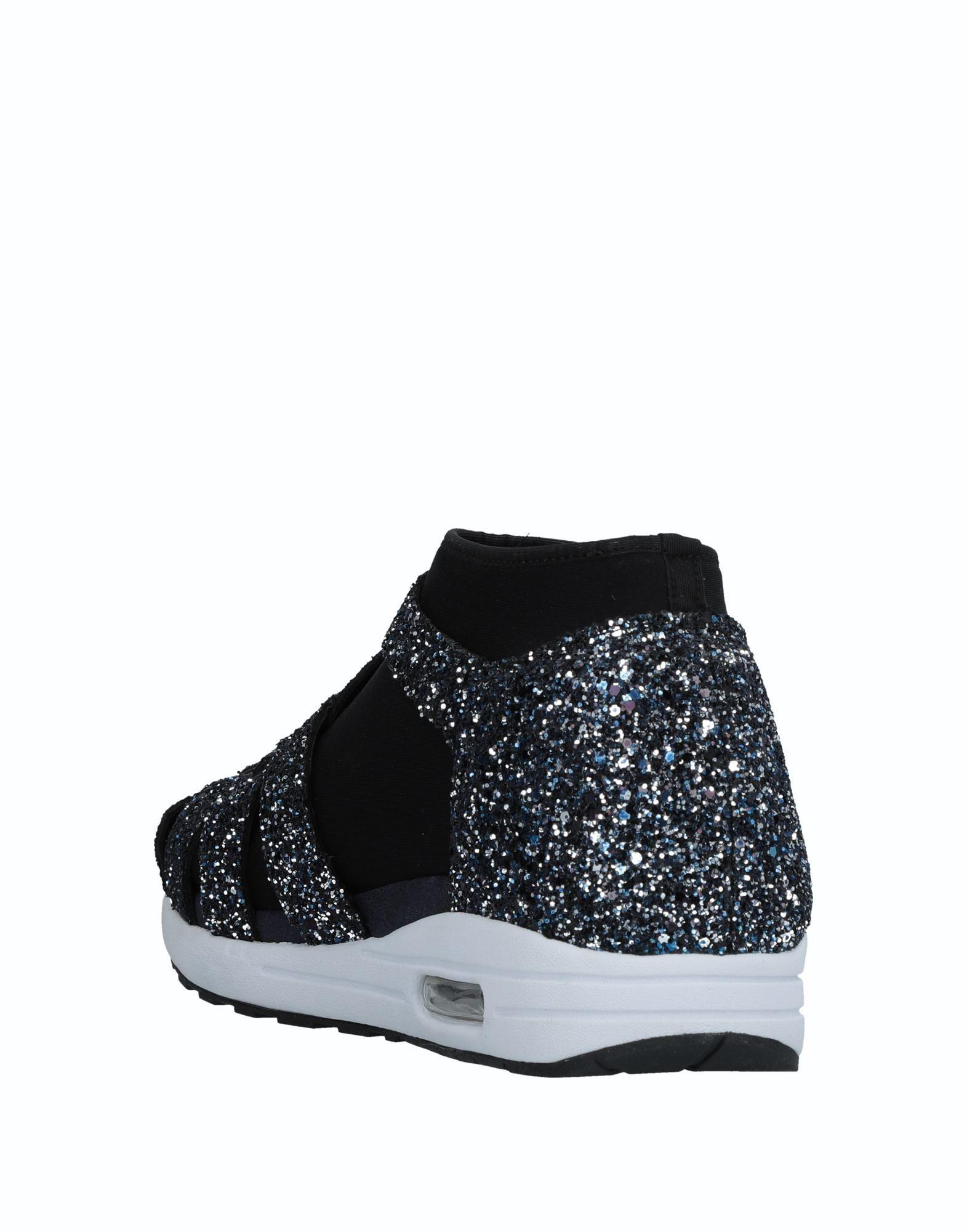 Susana Traça Leather High-tops & Sneakers in Dark Blue (Blue)