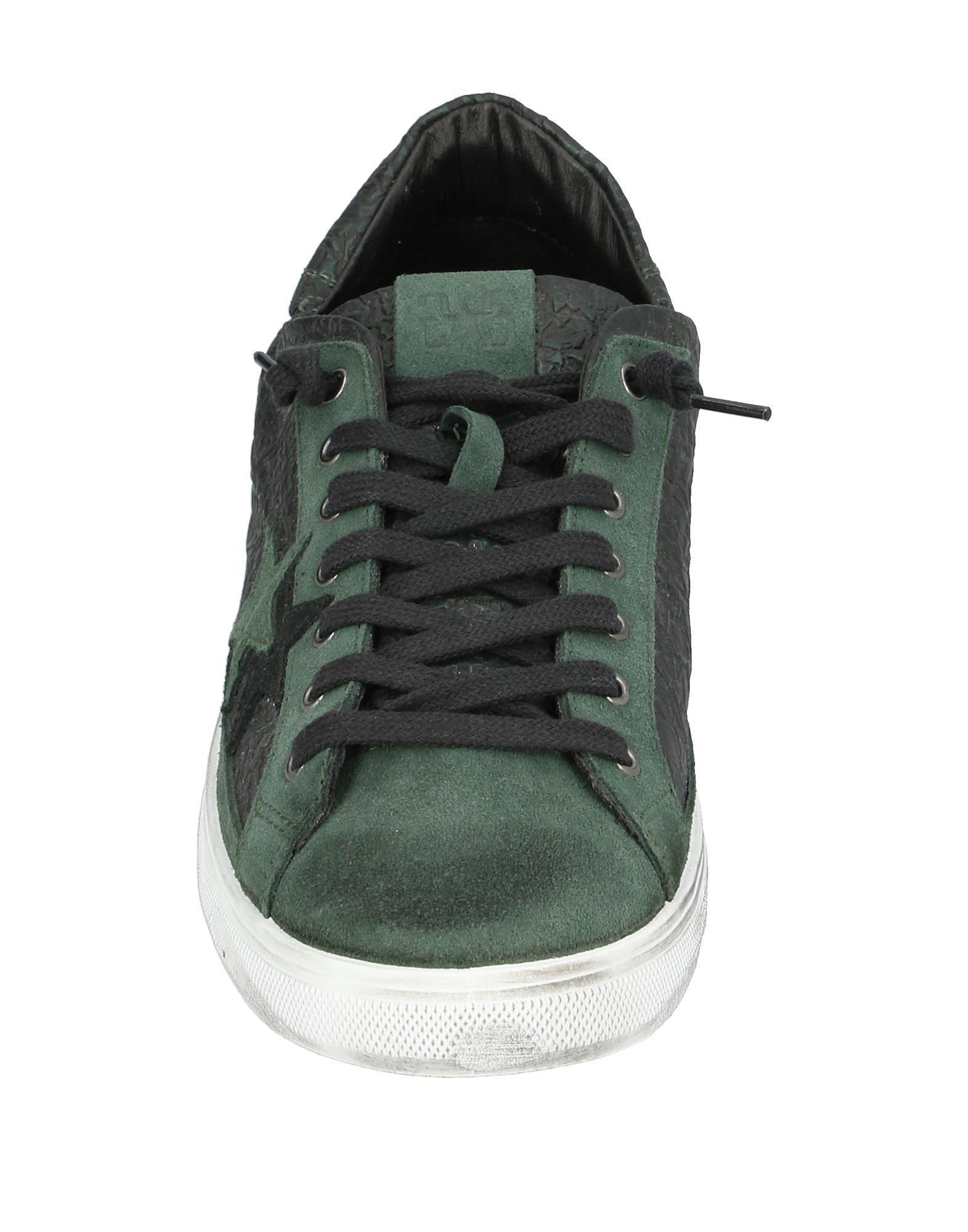 Sneakers & Deportivas 2Star de Cuero de color Verde para hombre