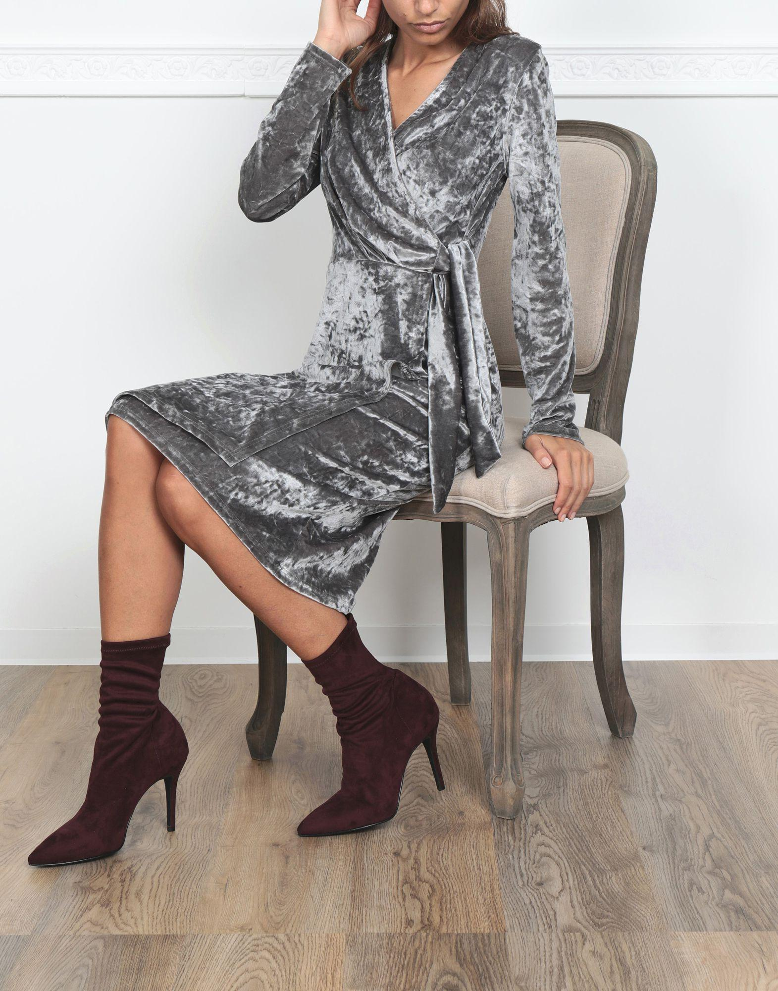 Jolie By Edward Spiers Synthetic Ankle Boots in Maroon (Purple)