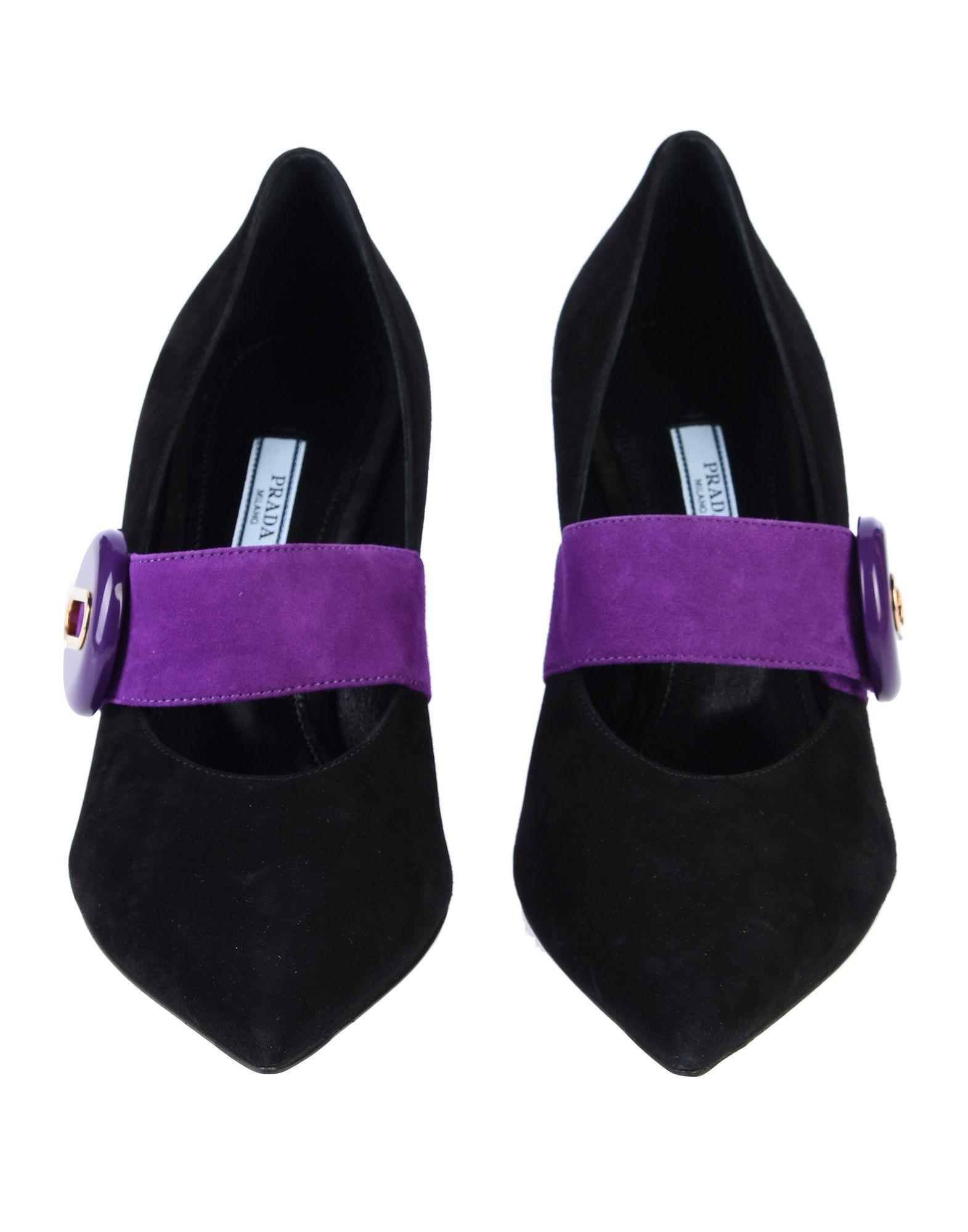 Zapatos de salón Prada de Ante de color Morado