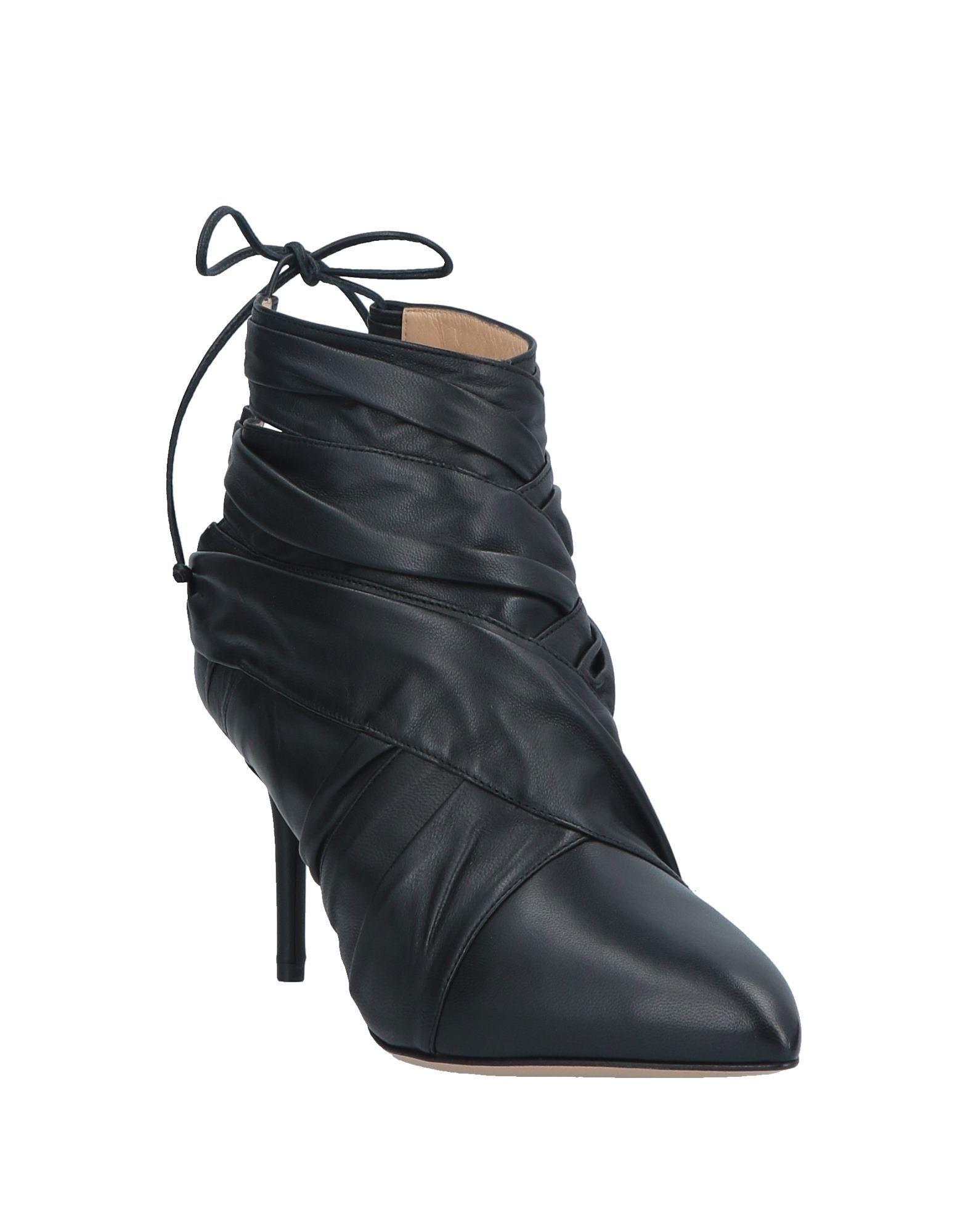 Botines de caña alta Charlotte Olympia de Cuero de color Negro