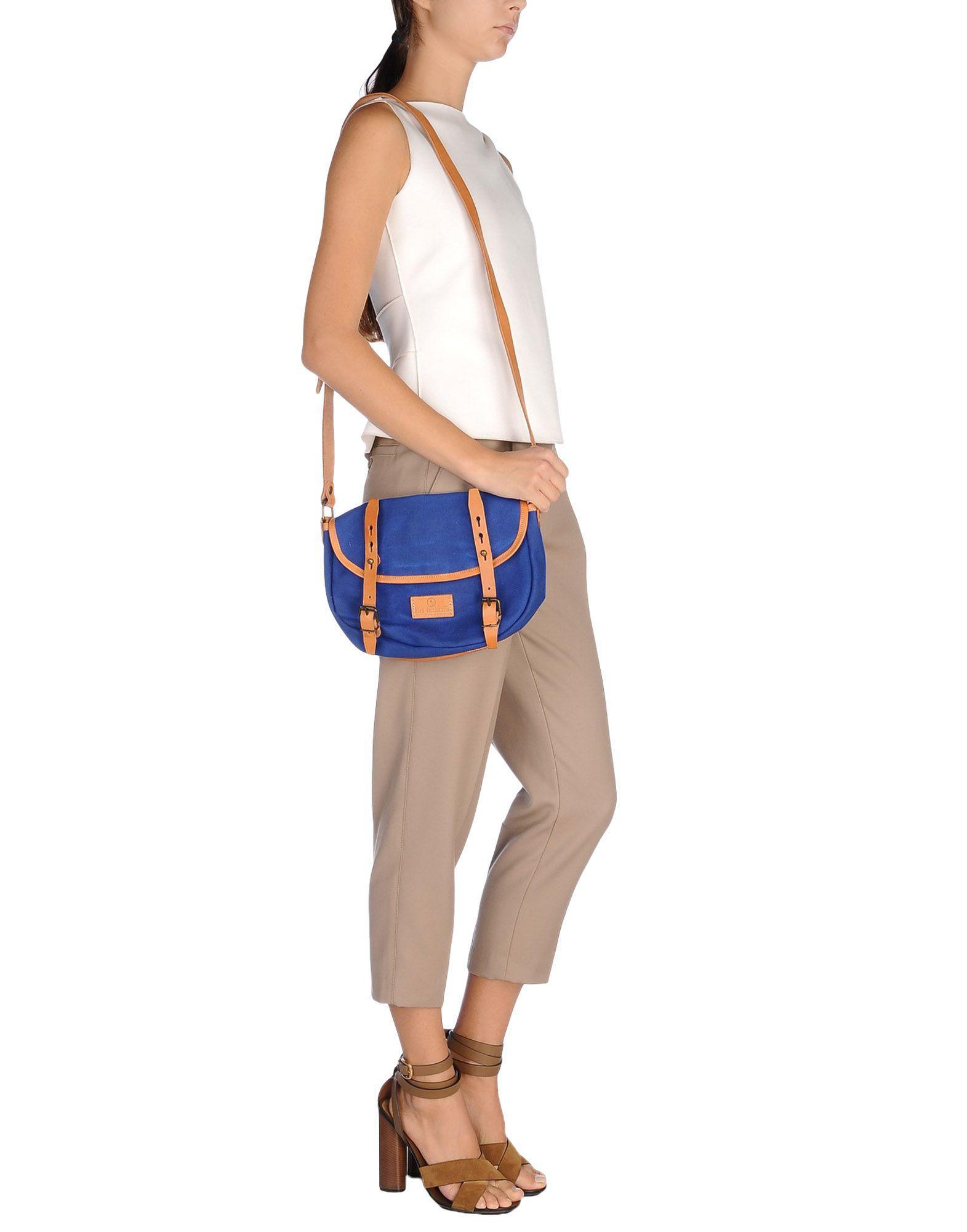 Bleu De Chauffe Canvas Cross-body Bag in Blue