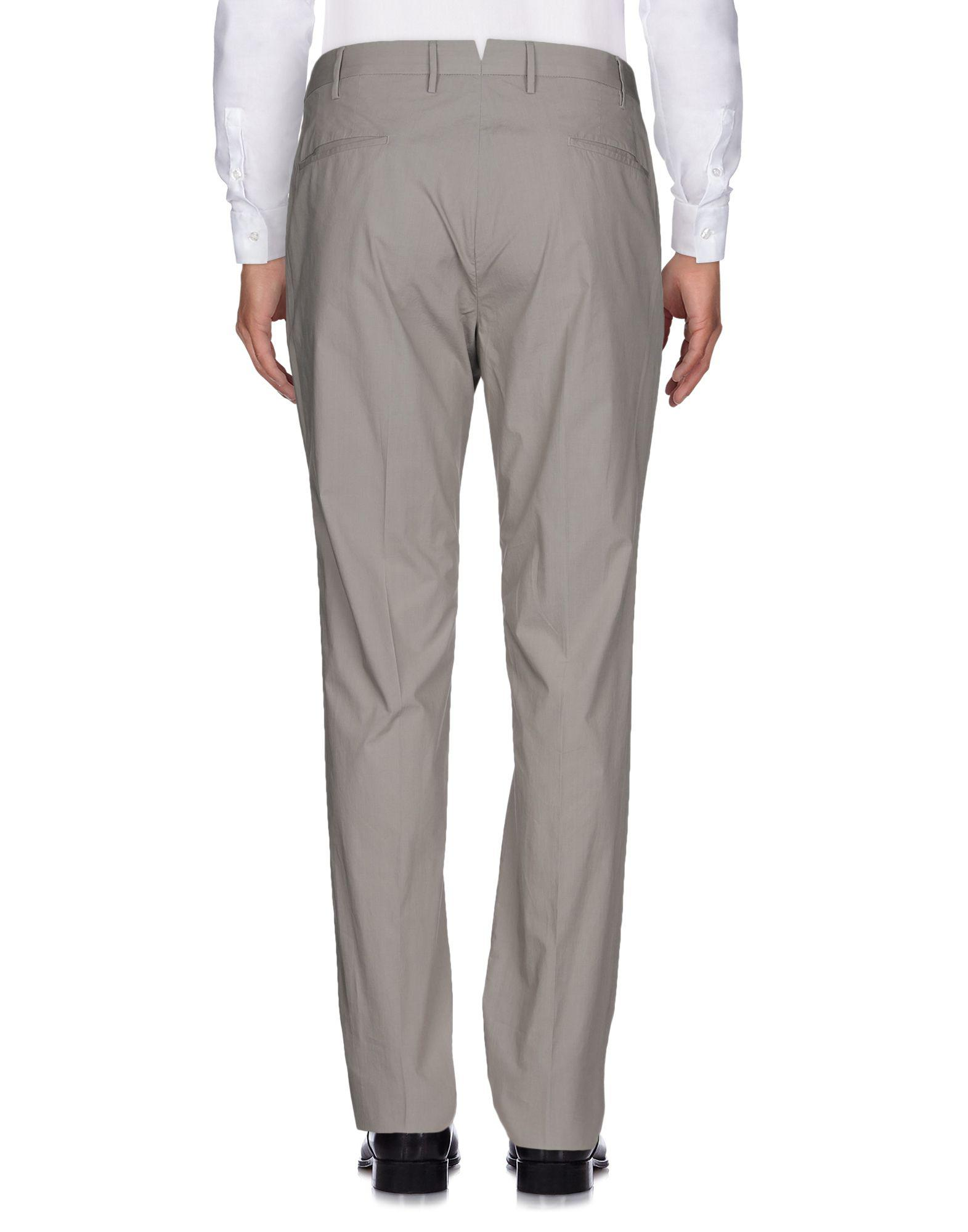 Incotex Cotton Casual Pants in Light Grey (Grey) for Men