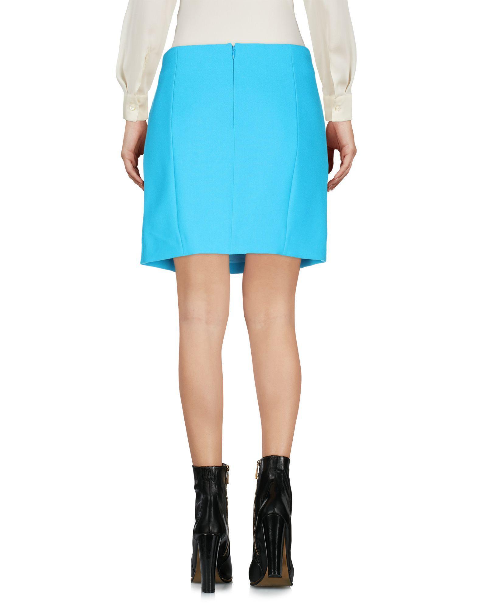 Mini-jupe Synthétique Versace en coloris Bleu