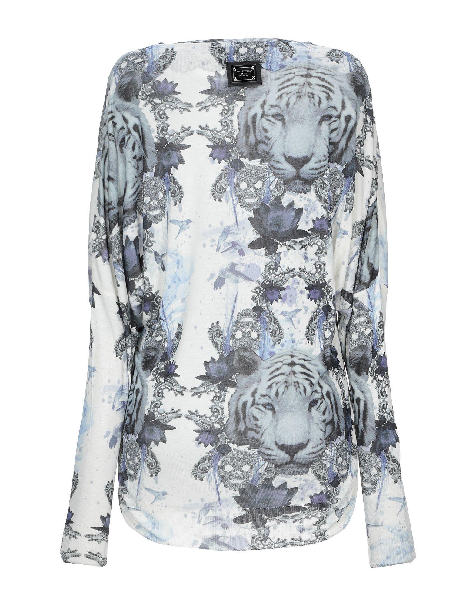 Pullover Soie Philipp Plein en coloris Blanc