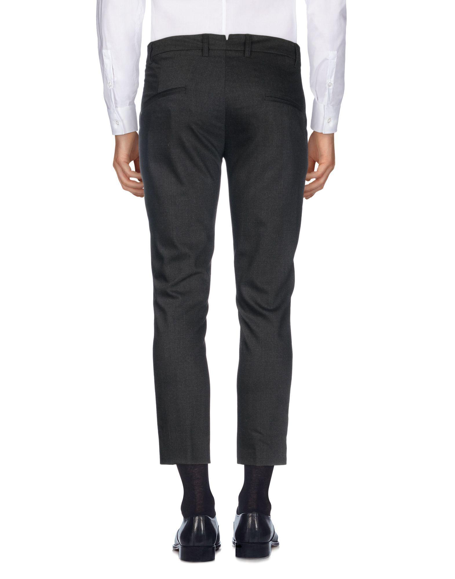 Maestrami Flannel Casual Pants in Steel Grey (Grey) for Men
