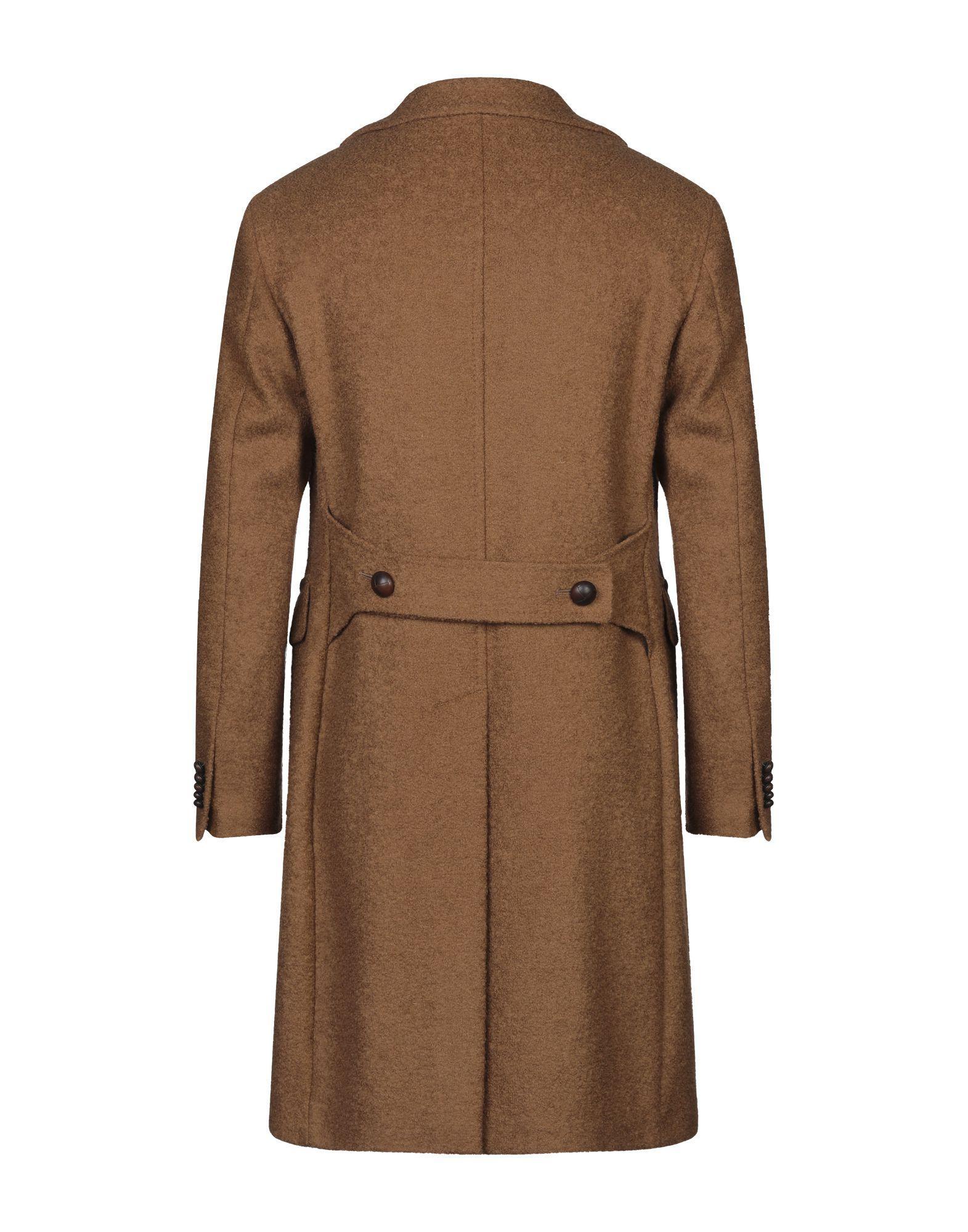 Manteau long Laines Tagliatore pour homme en coloris Marron CdSup