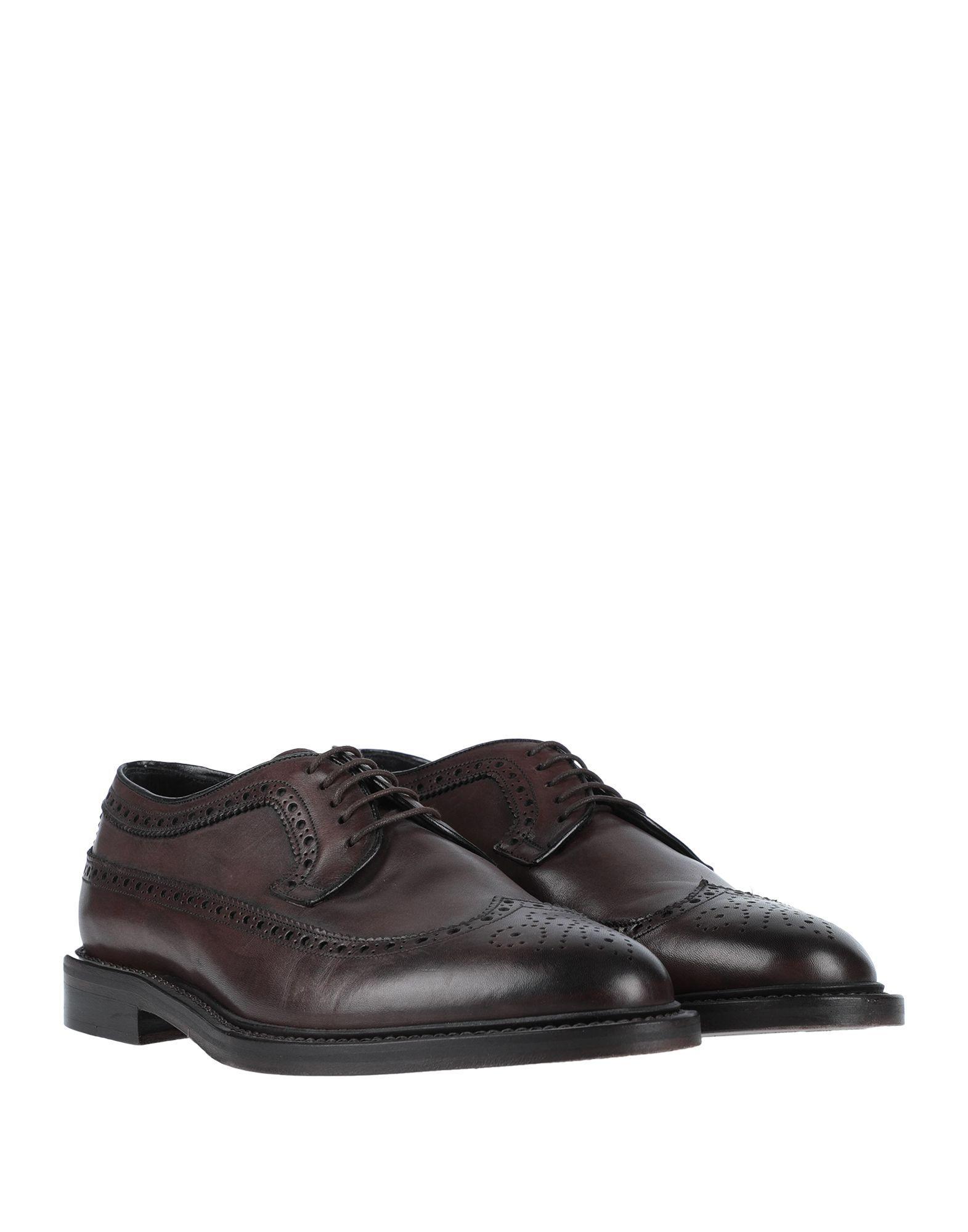 Zapatos de cordones Dolce & Gabbana de Cuero de color Marrón para hombre