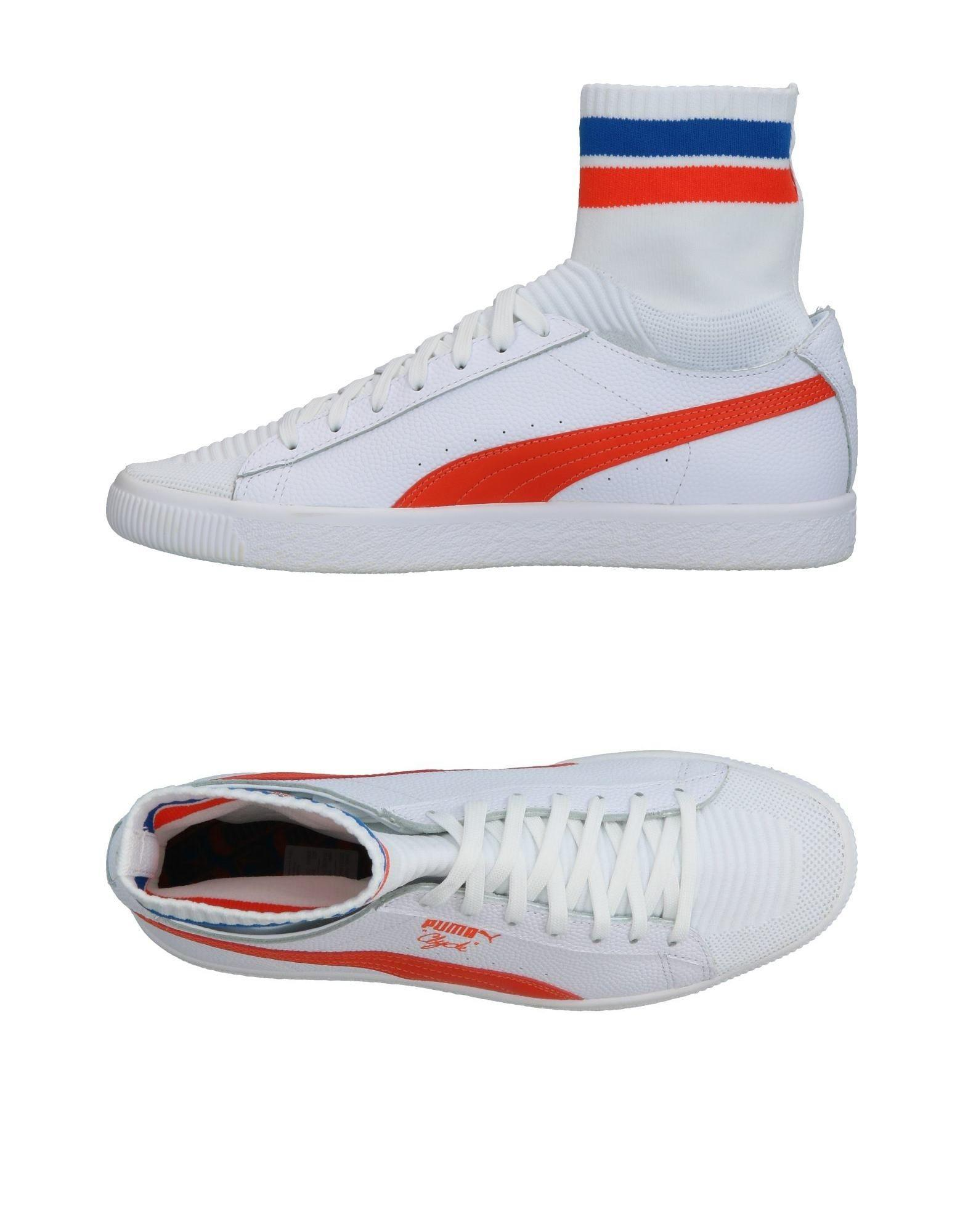 lyst puma hightops amp sneakers in white for men