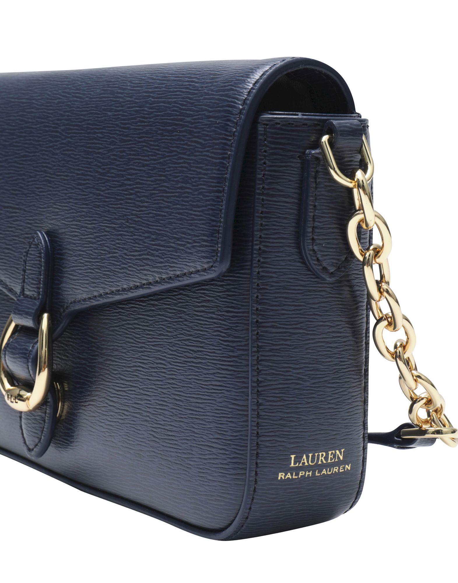 3ddd625e13 Sacs Bandoulière Lauren by Ralph Lauren en coloris Bleu - Lyst