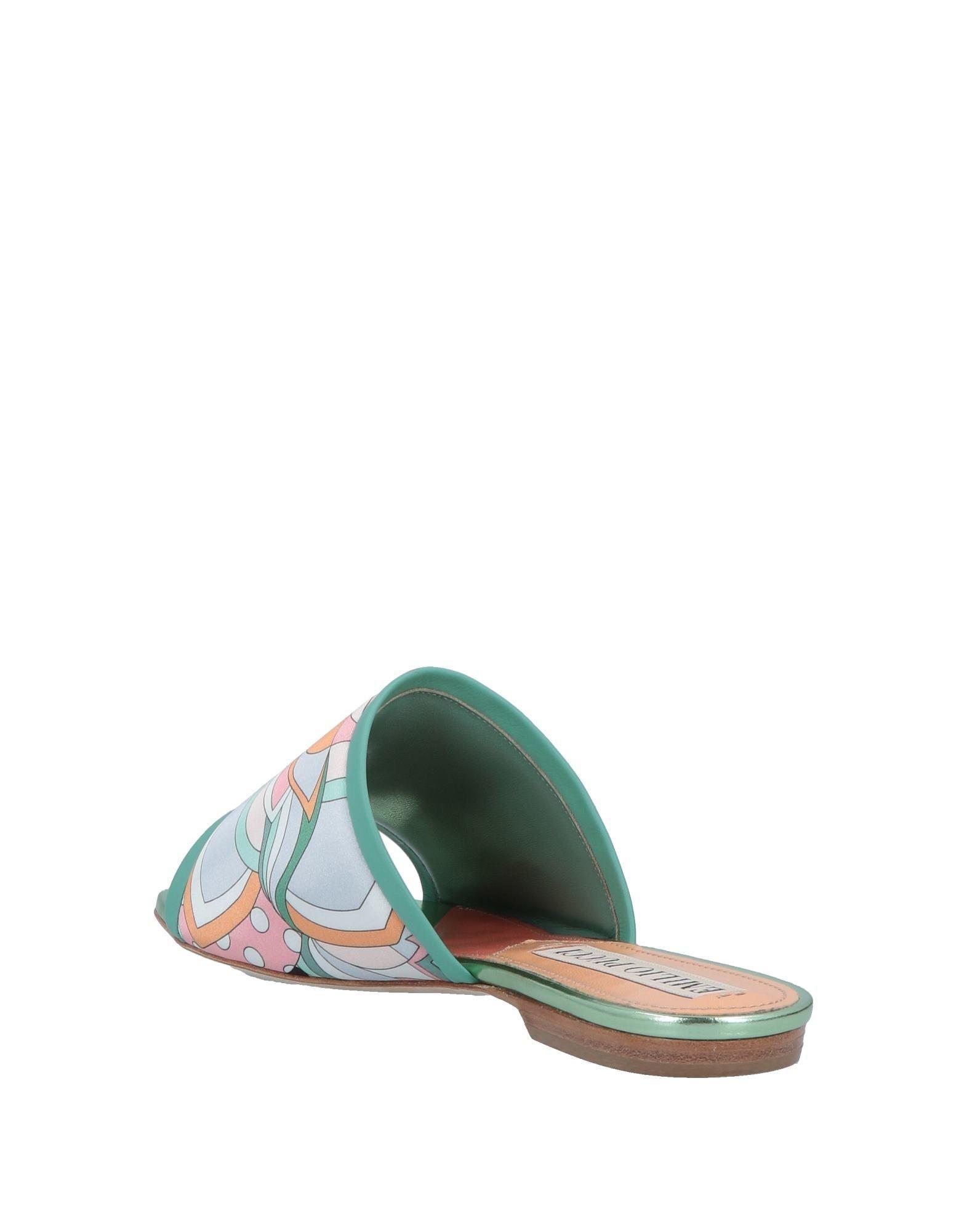 Lyst Pucci Green Emilio In Sandals L4j5AR