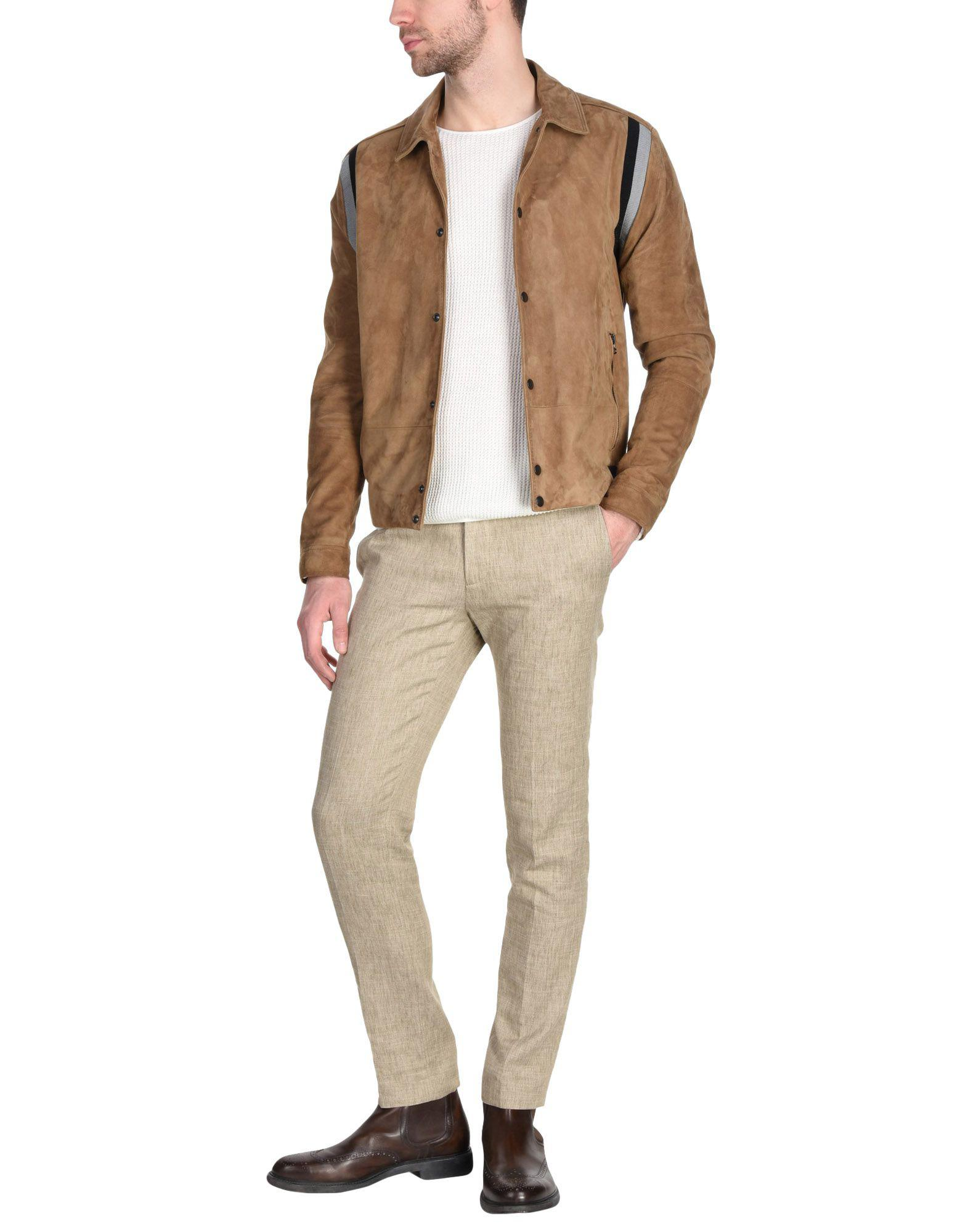 Lanvin Leather Jackets in Camel (Brown) for Men