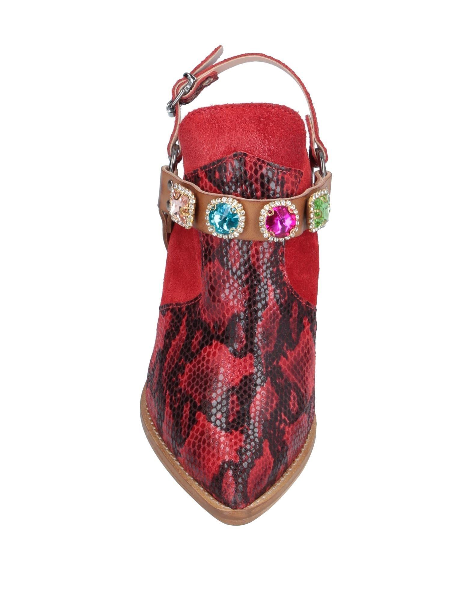 Mules & Zuecos Divine Follie de Cuero de color Rojo