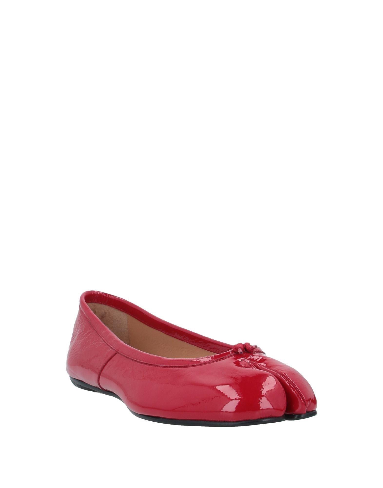 Bailarinas Maison Margiela de Cuero de color Rojo