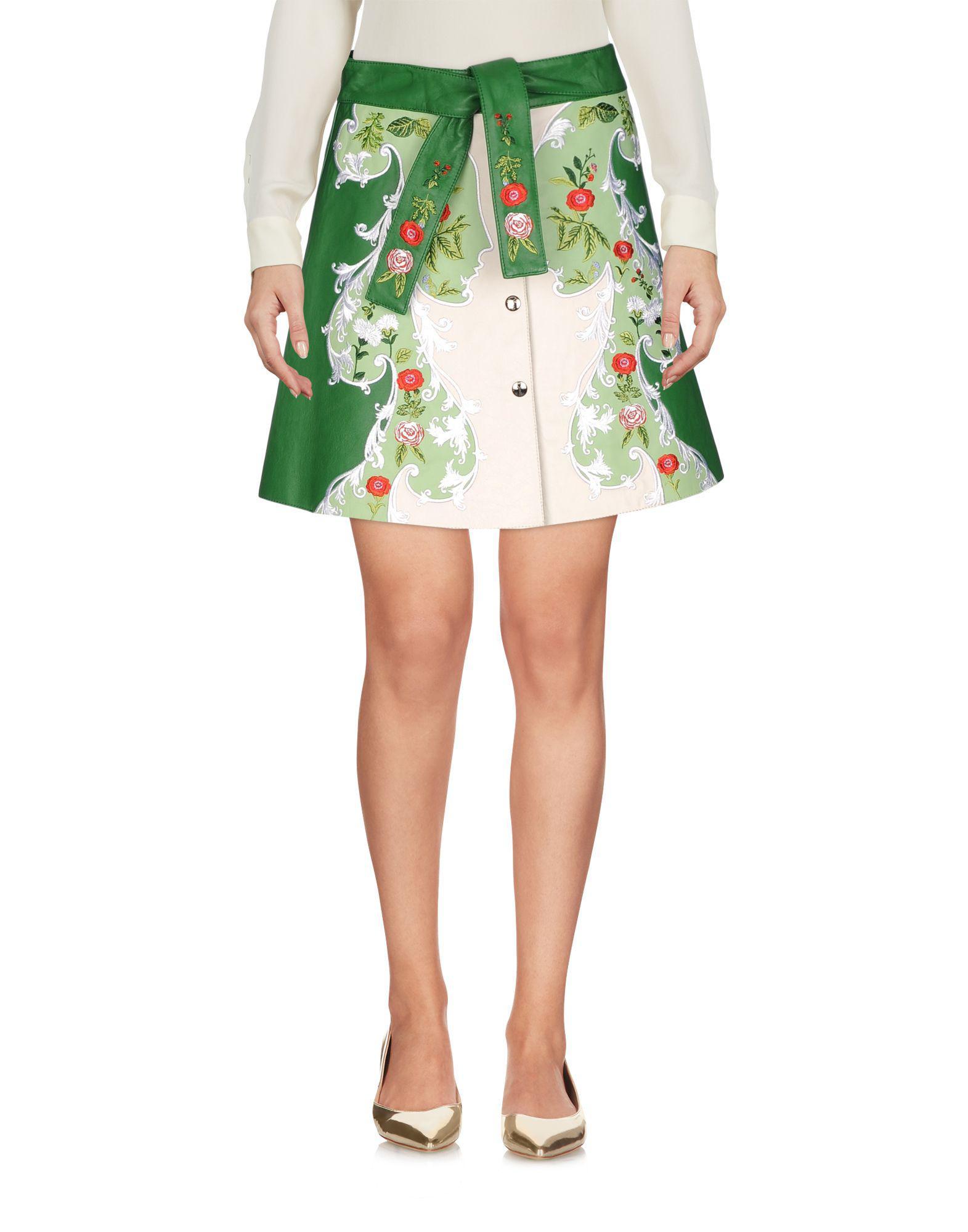 c2c7f15374 Lyst - Vivetta Mini Skirt in Green