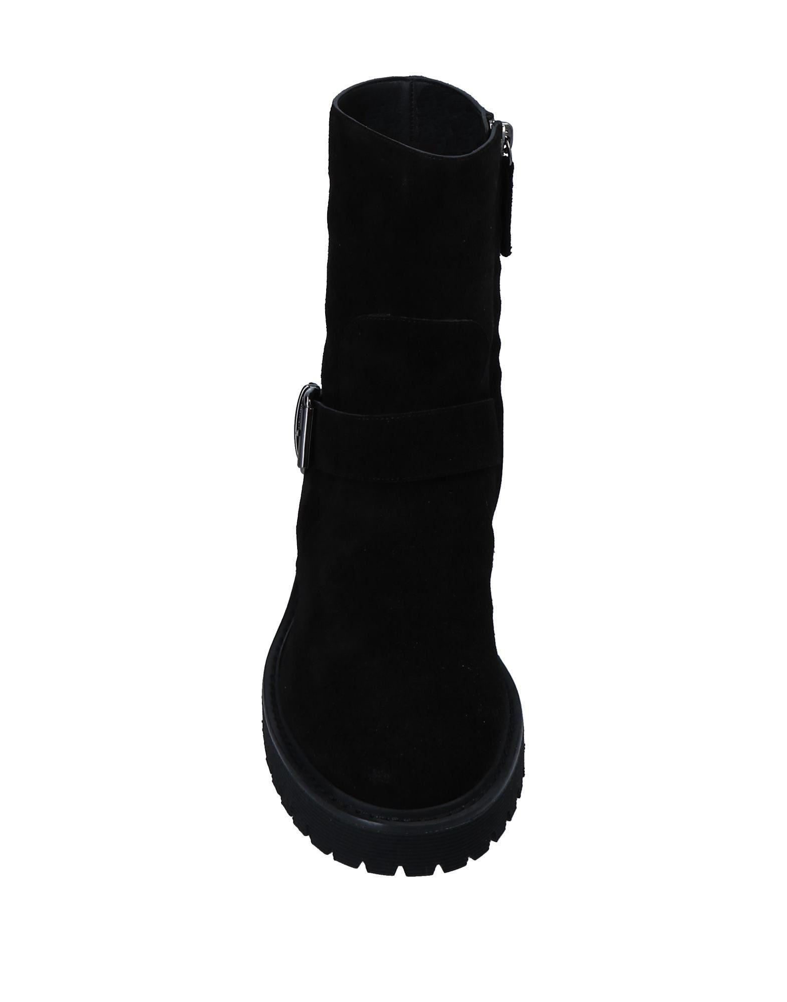 Botines de caña alta Giuseppe Zanotti de Ante de color Negro
