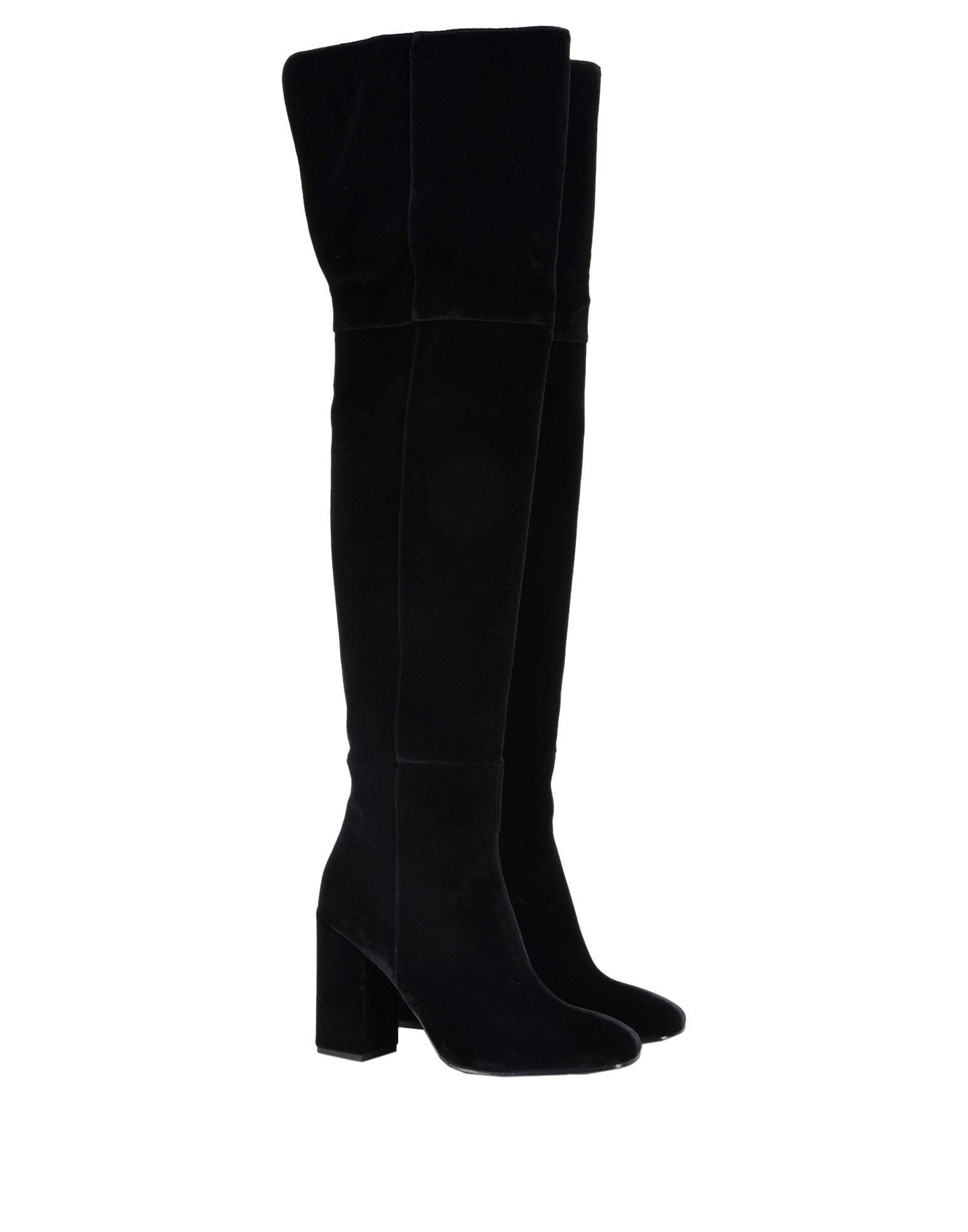 8 Velvet Boots in Black