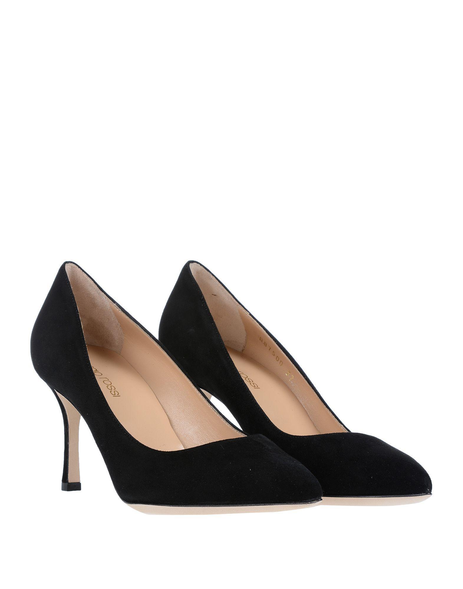 Zapatos de salón Sergio Rossi de Ante de color Negro