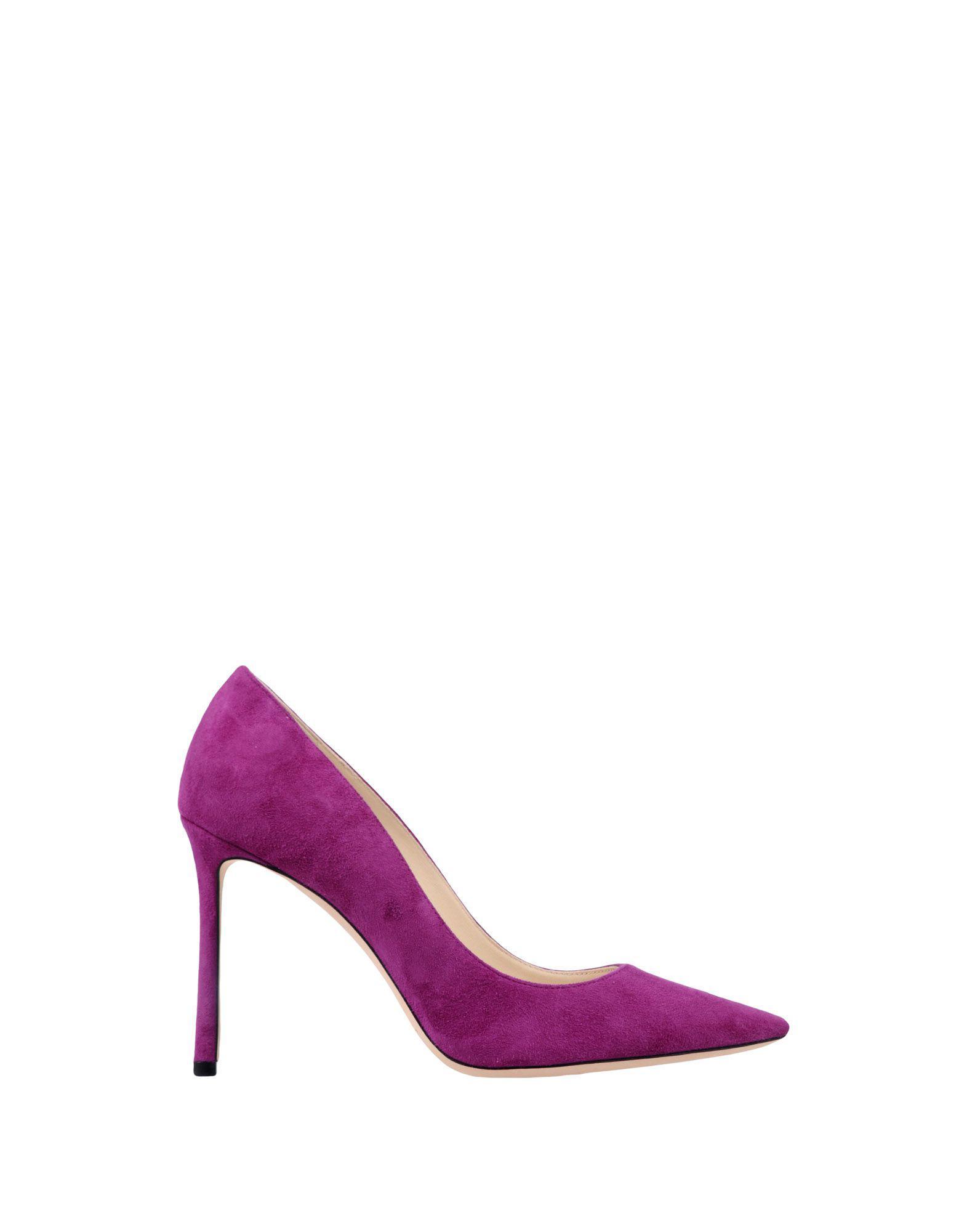 Zapatos de salón Jimmy Choo de Cuero de color Morado