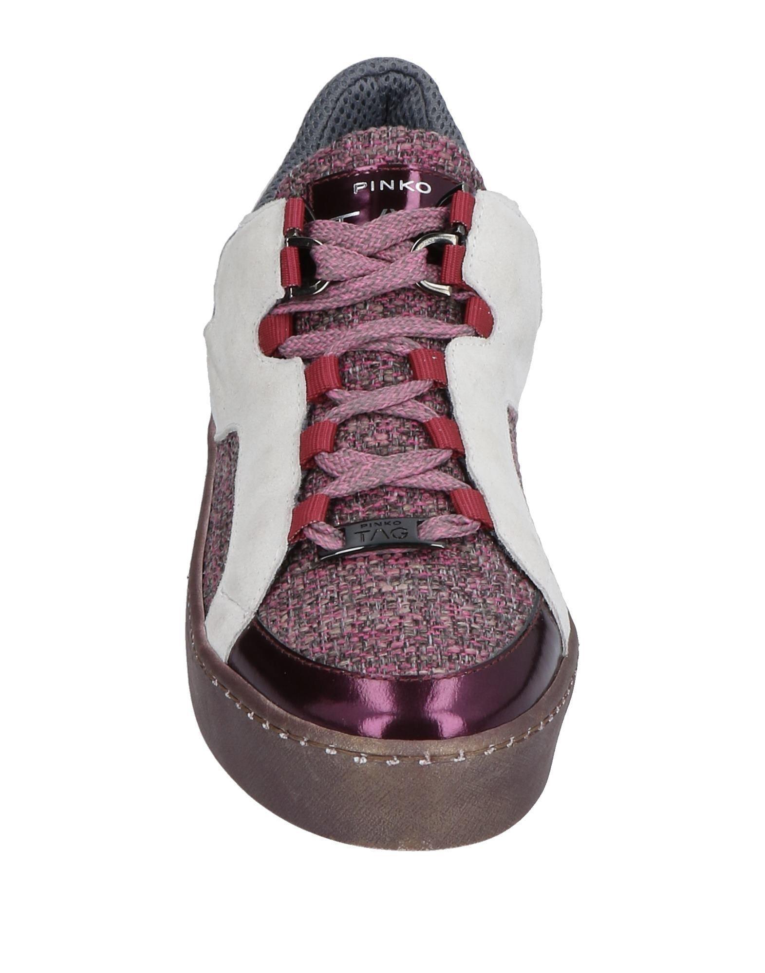 Pinko Tweed Low-tops & Sneakers in Fuchsia (Purple)