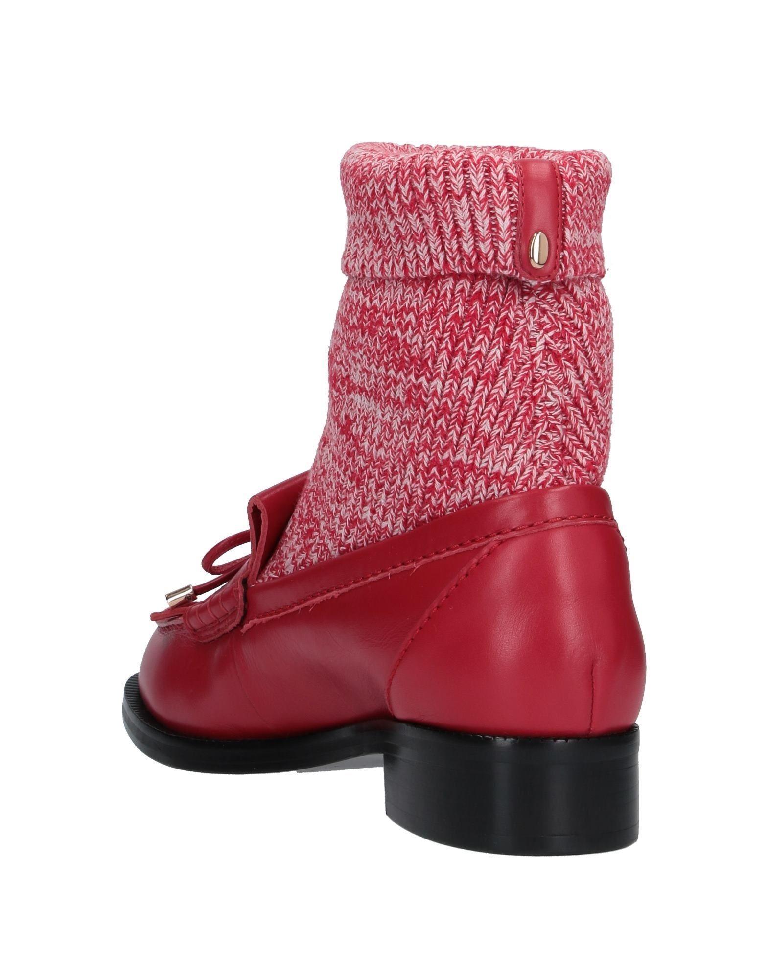 Mocasines Stella Luna de Cuero de color Rojo
