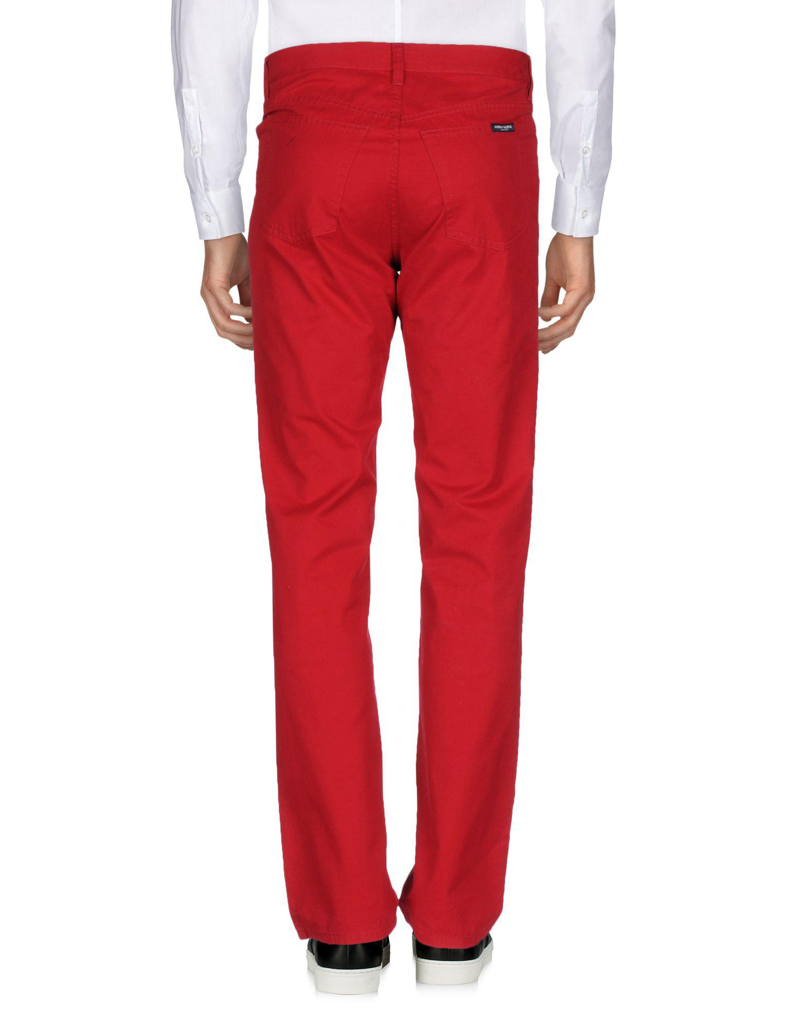 Marina Yachting Cotton Casual Trouser in Red for Men