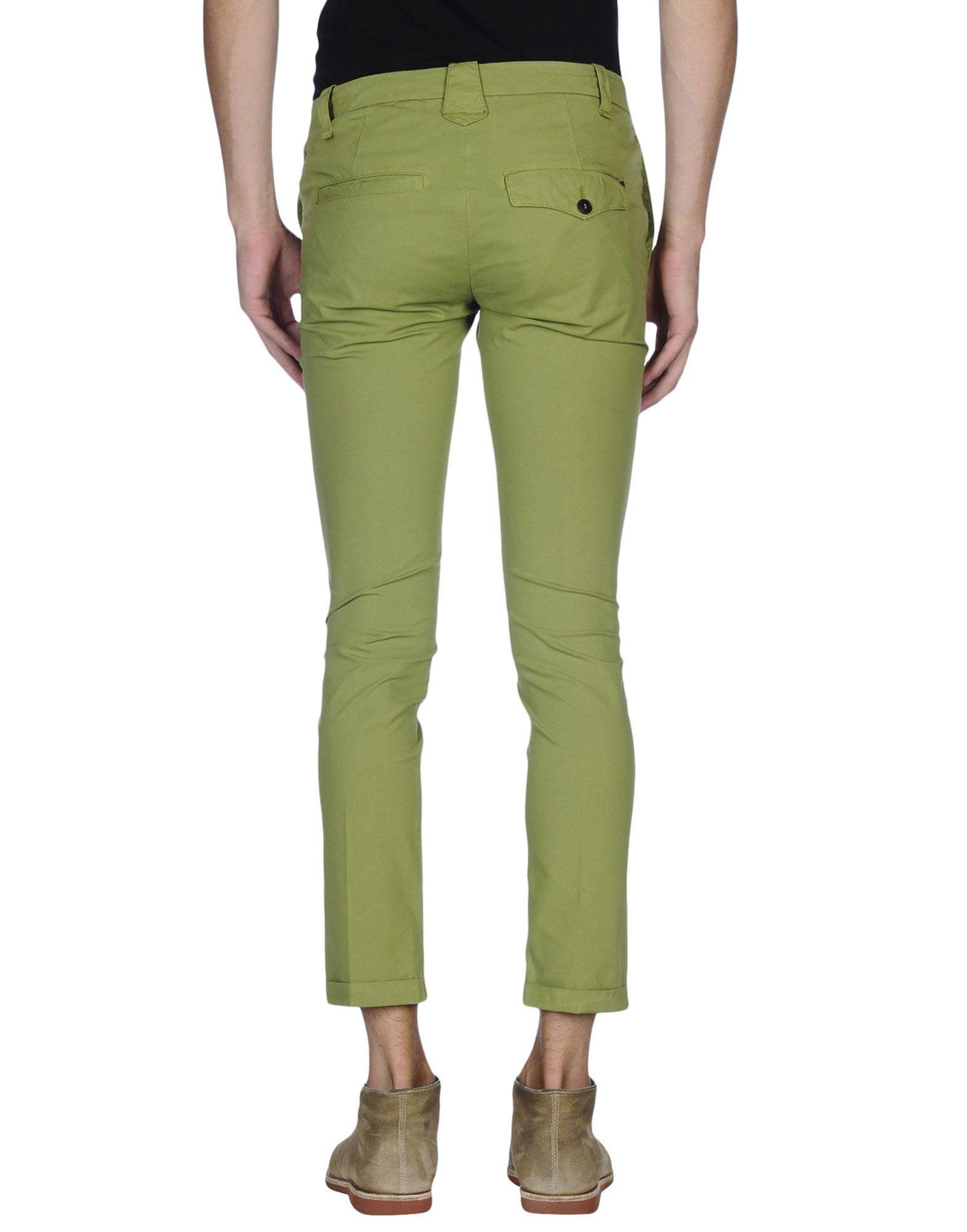 Dondup Cotton Casual Pants in Green for Men