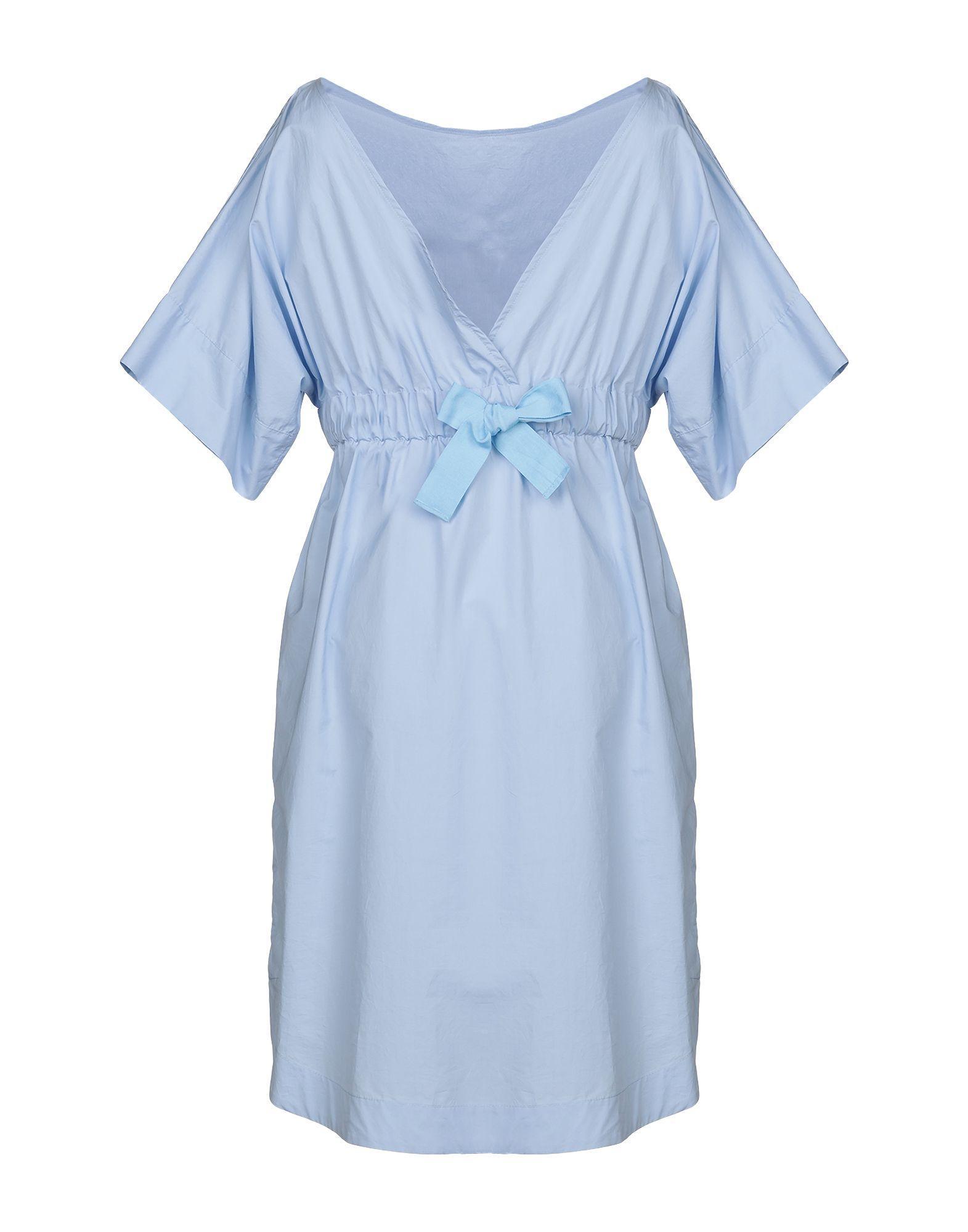 Robe aux genoux Ottod'Ame en coloris Bleu