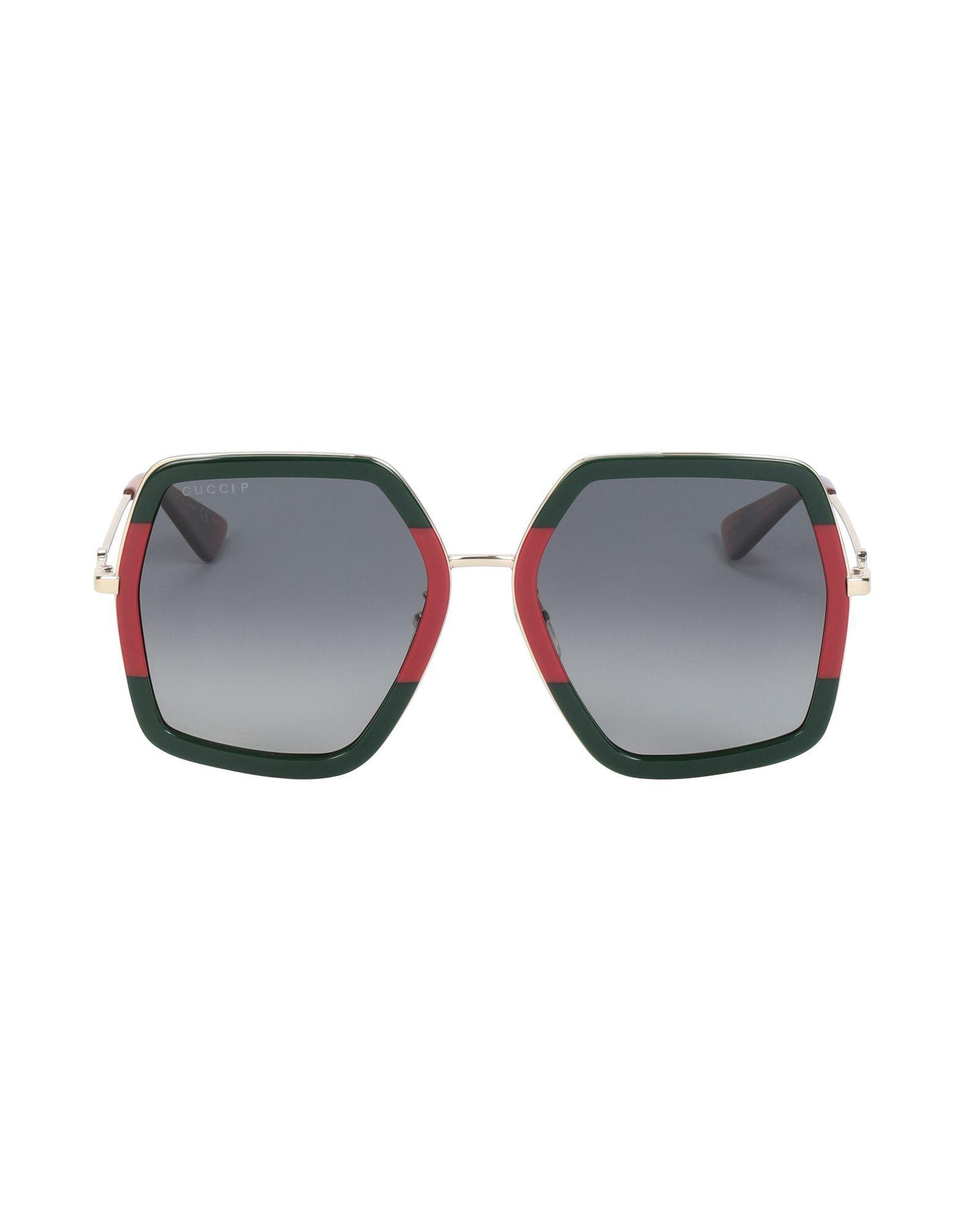 e7bb0bdf38a Gucci Sunglasses in Green - Lyst