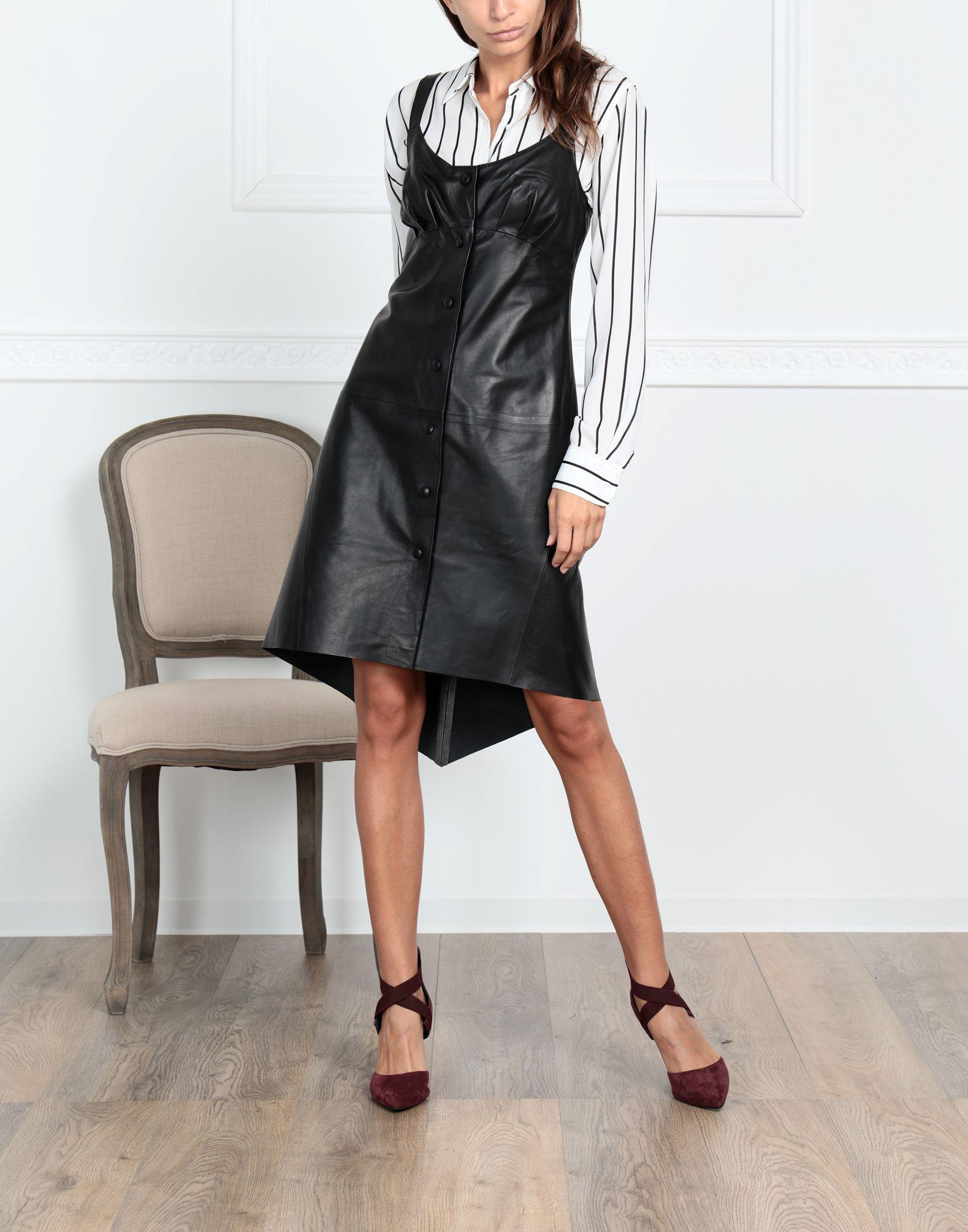 Robe aux genoux Cuir Jolie By Edward Spiers en coloris Noir