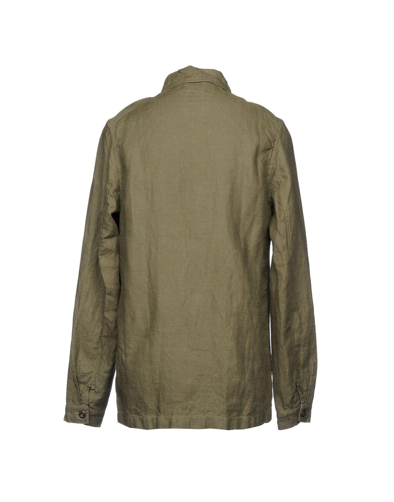 Arpenteur Linen Jacket in Military Green (Green) for Men