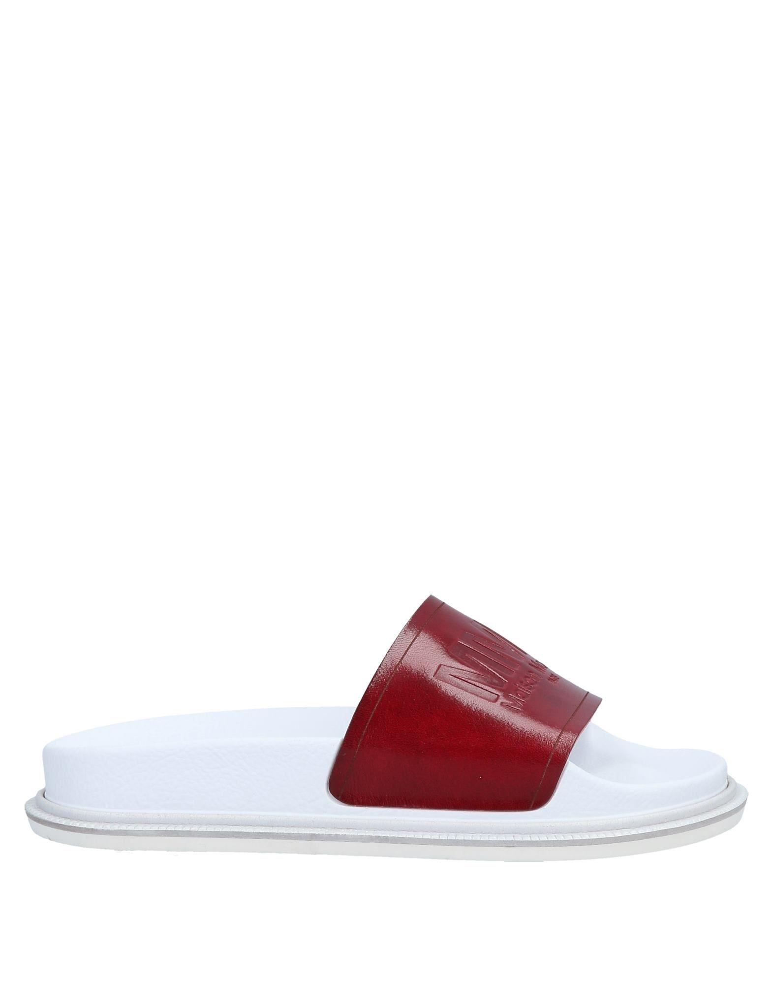 bfb28d29cf7e MM6 by Maison Martin Margiela Sandals in Red - Lyst