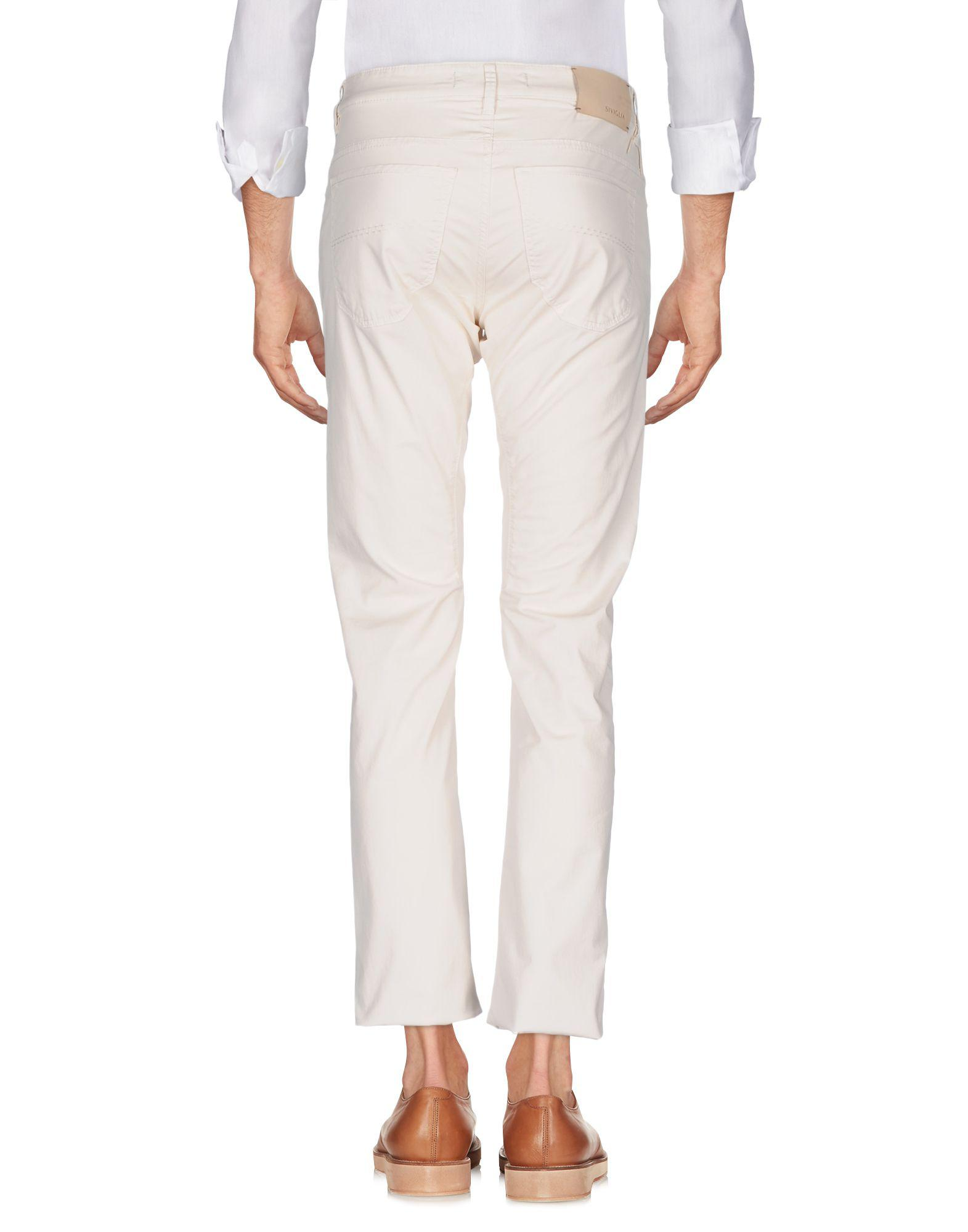 Siviglia Cotton Casual Pants in Ivory (White) for Men