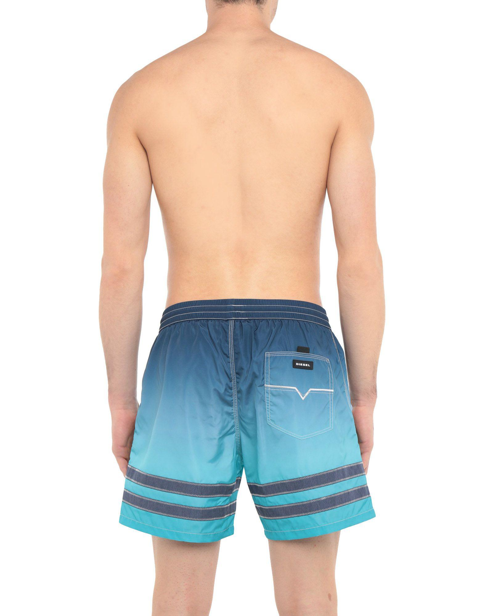 44eff725aa14a Lyst - Diesel Swim Trunks in Blue for Men