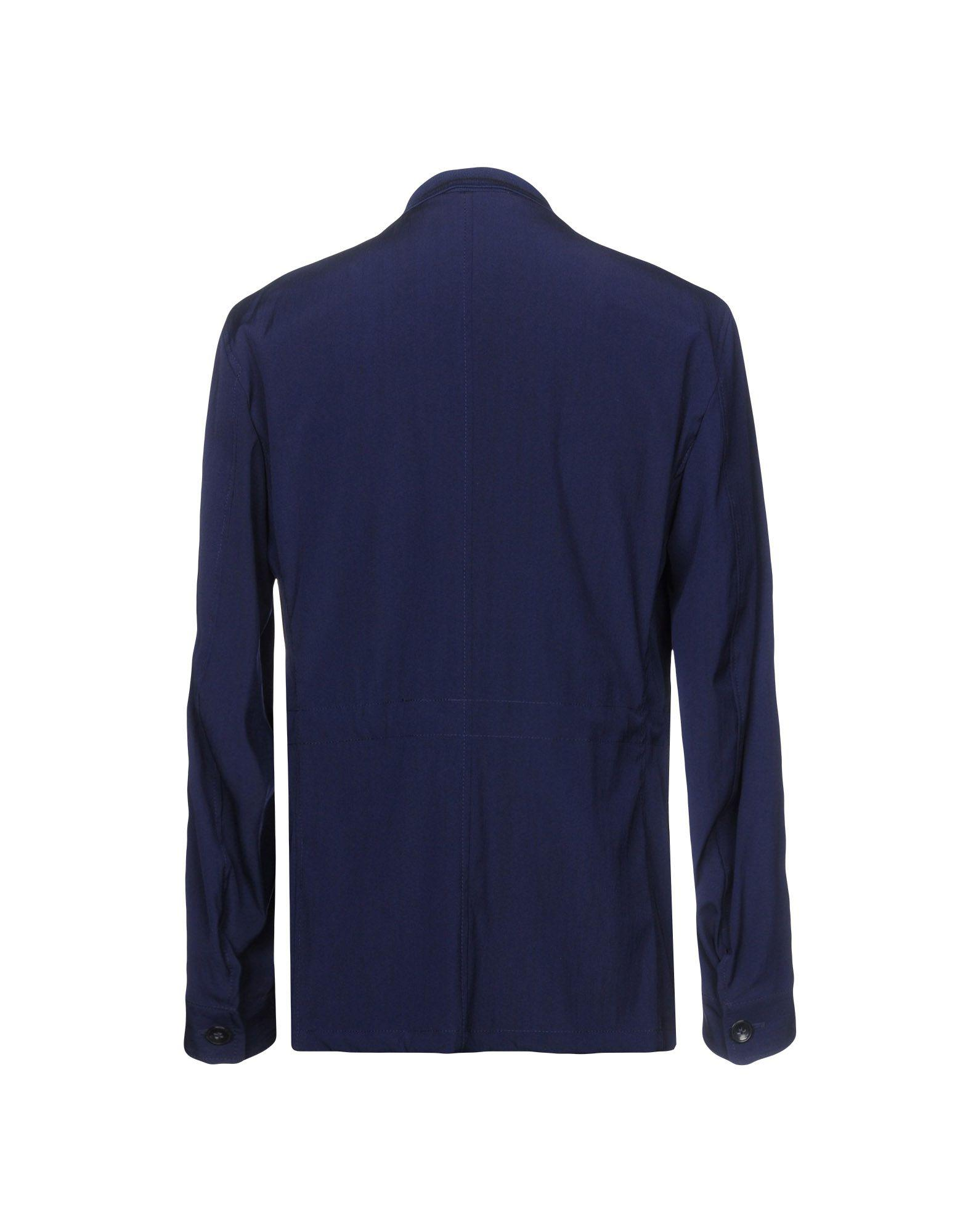 Hevò Wool Coat in Dark Blue (Blue) for Men