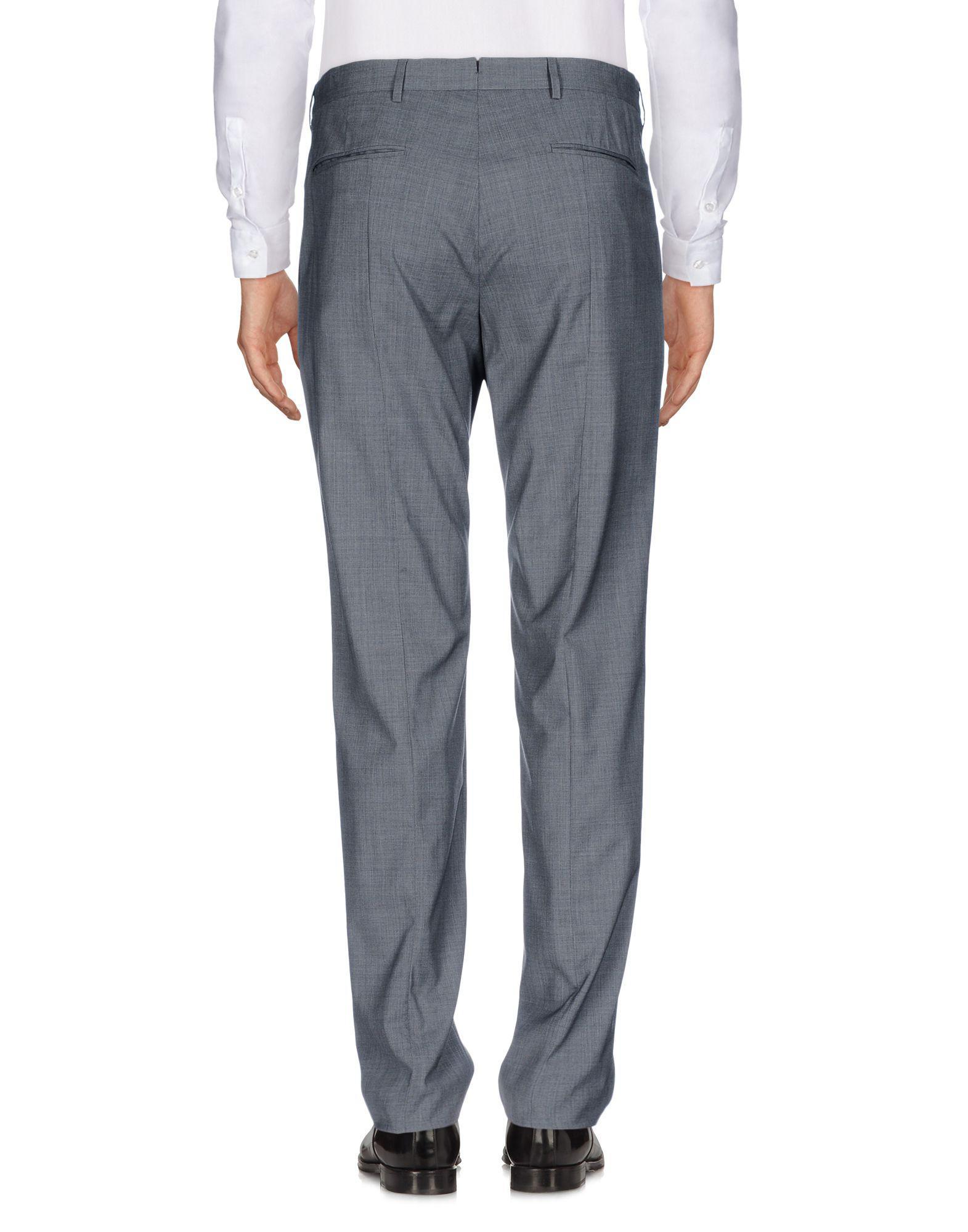 Prada Wool Casual Pants in Grey (Grey) for Men