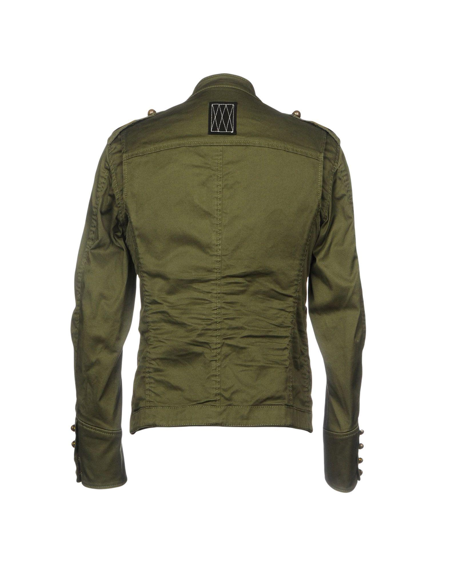 DSquared² Cotton Jacket in Green for Men